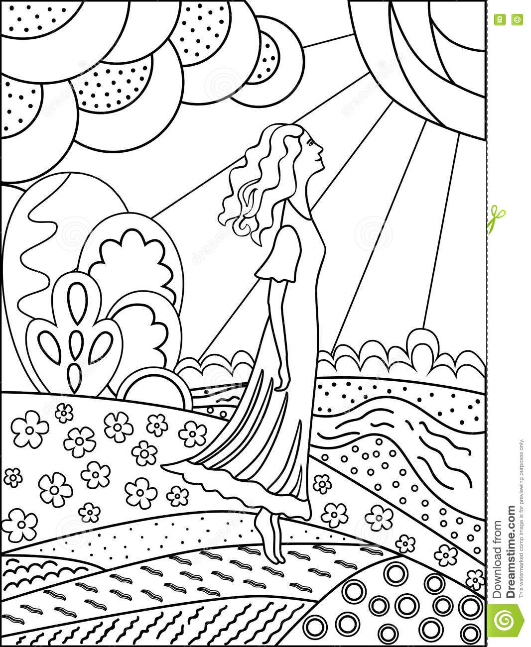 Coloring pictures of nature - Coloring Drawing Nature