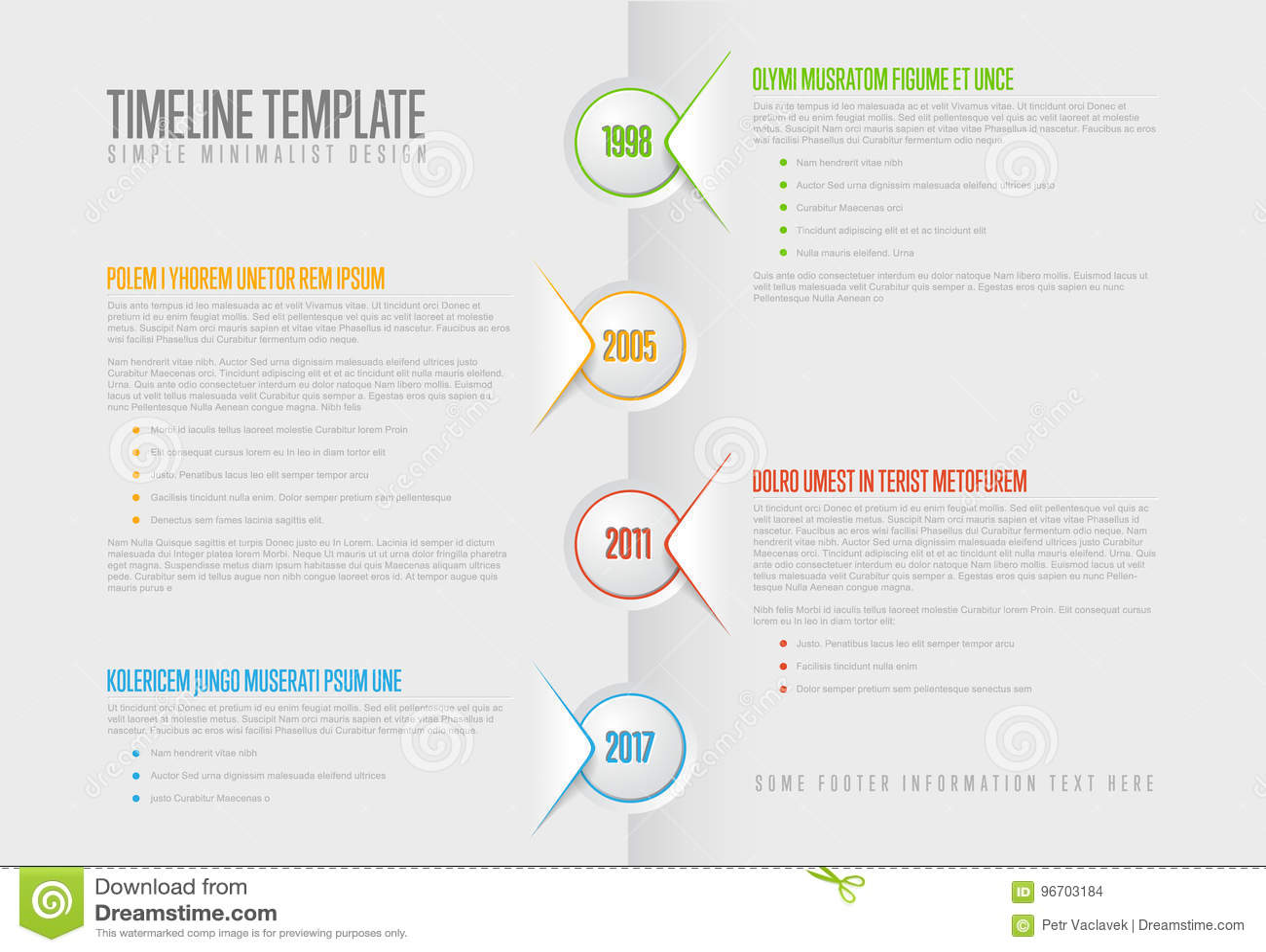 Simple Paper Timeline Stock Vector Illustration Of Information