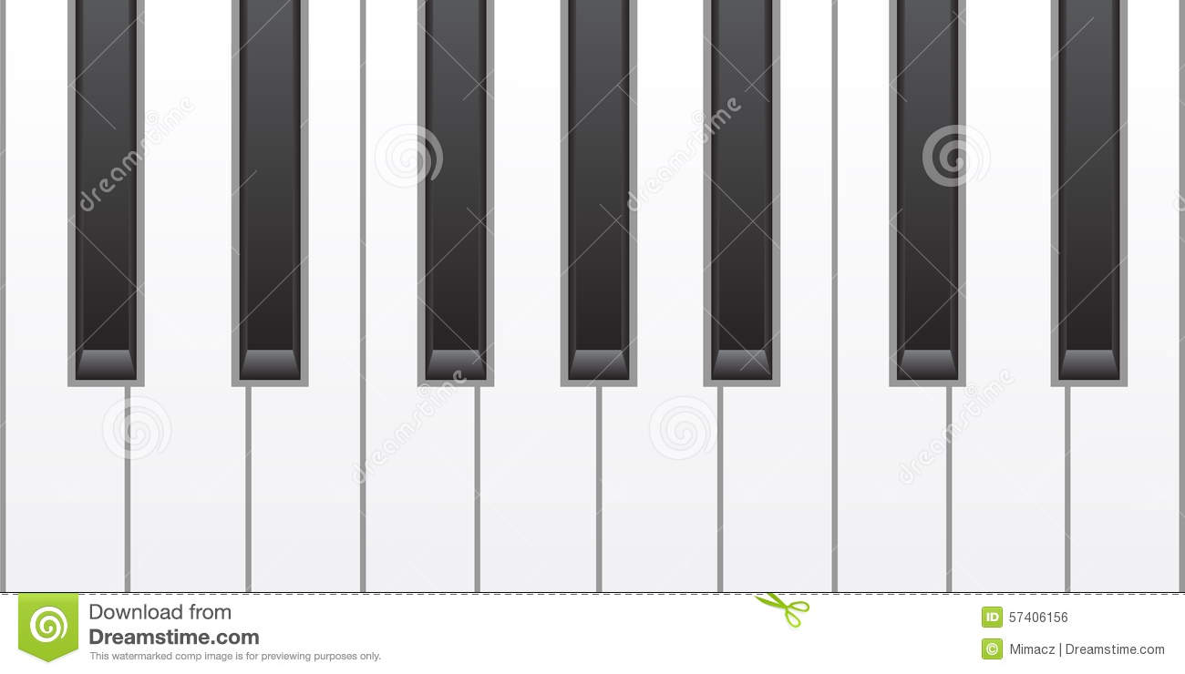 Simple piano keys stock vector image 57406156 - Key of create perfect contemporary style ...