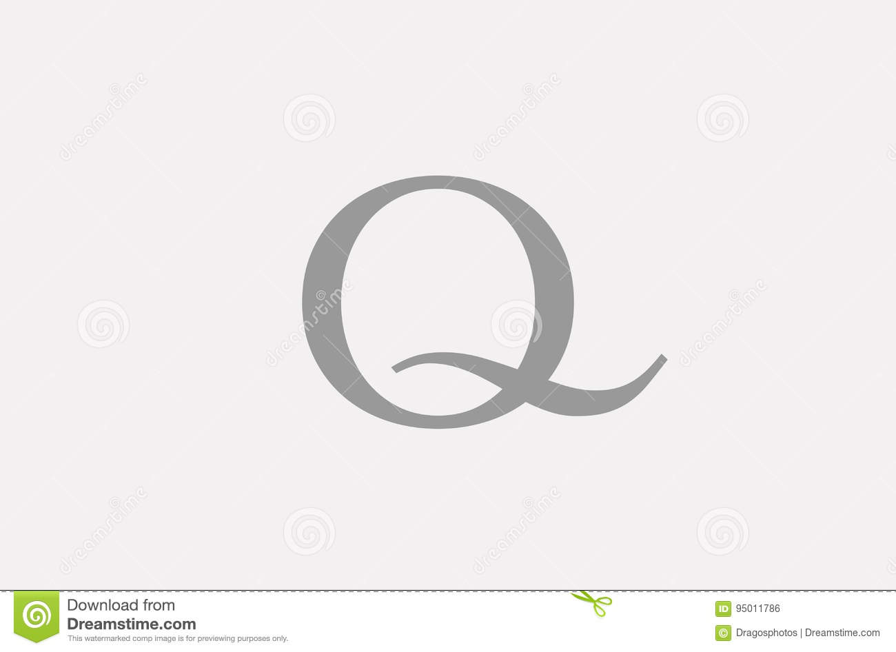 simple q alphabet letter logo icon template company stock vector