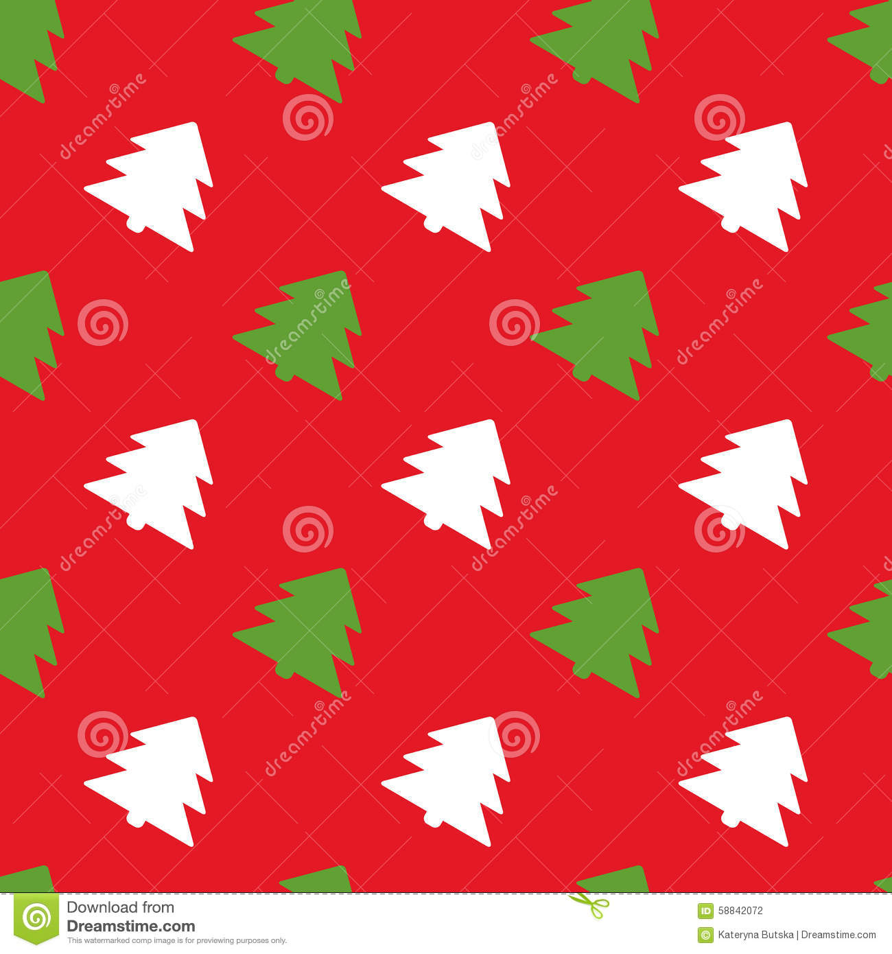 Simple Retro Christmas Pattern Winter Background Stock