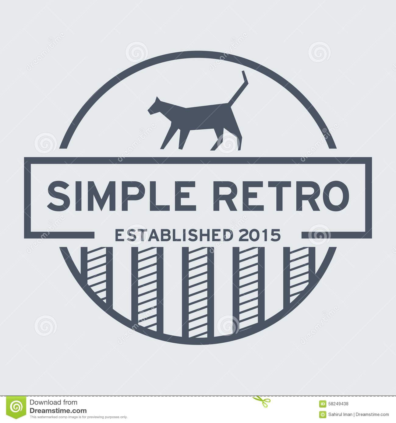simple retro logo template stock vector illustration of font 58249438