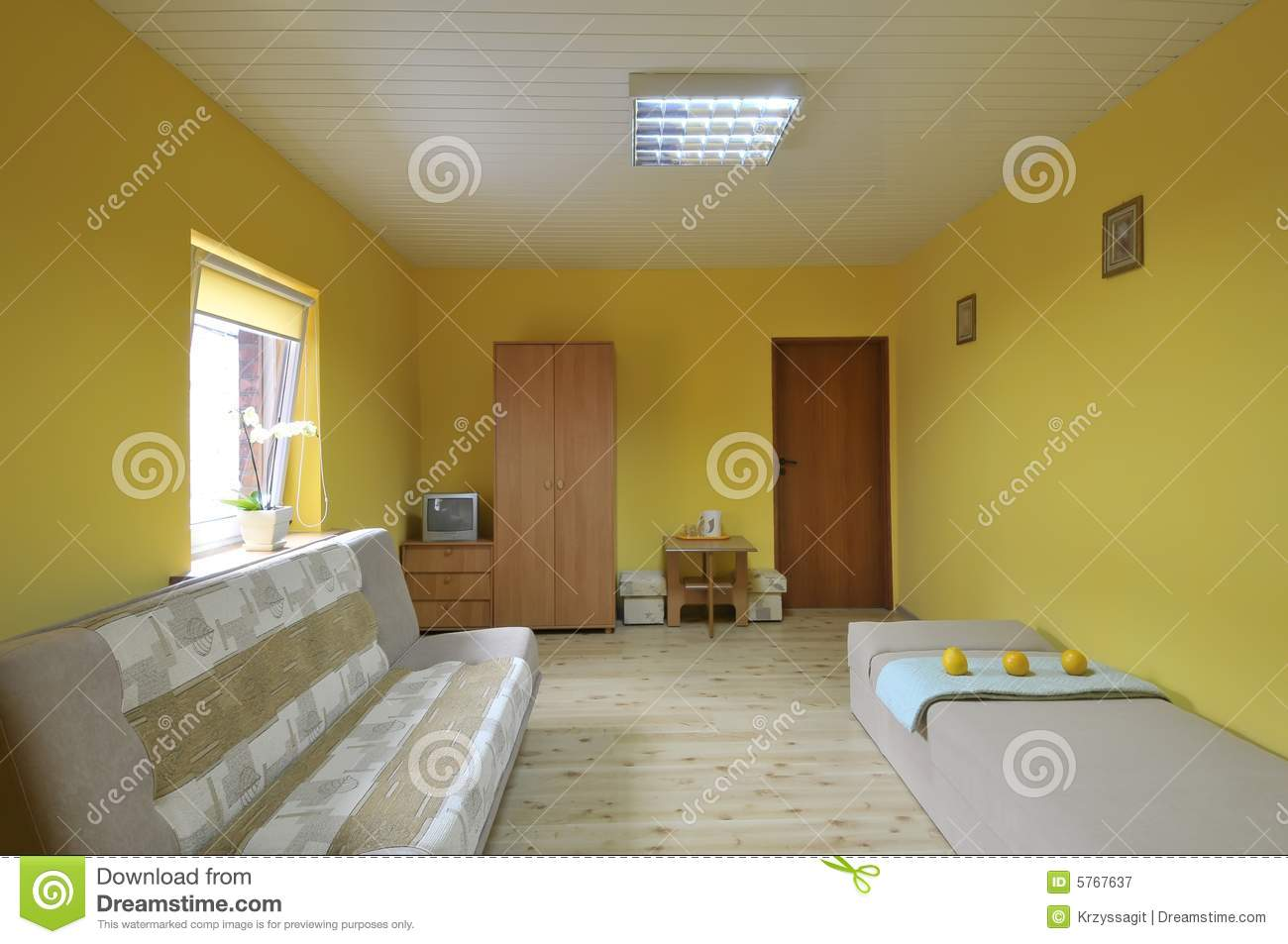 Simple Room Interior Royalty Free Stock Photography
