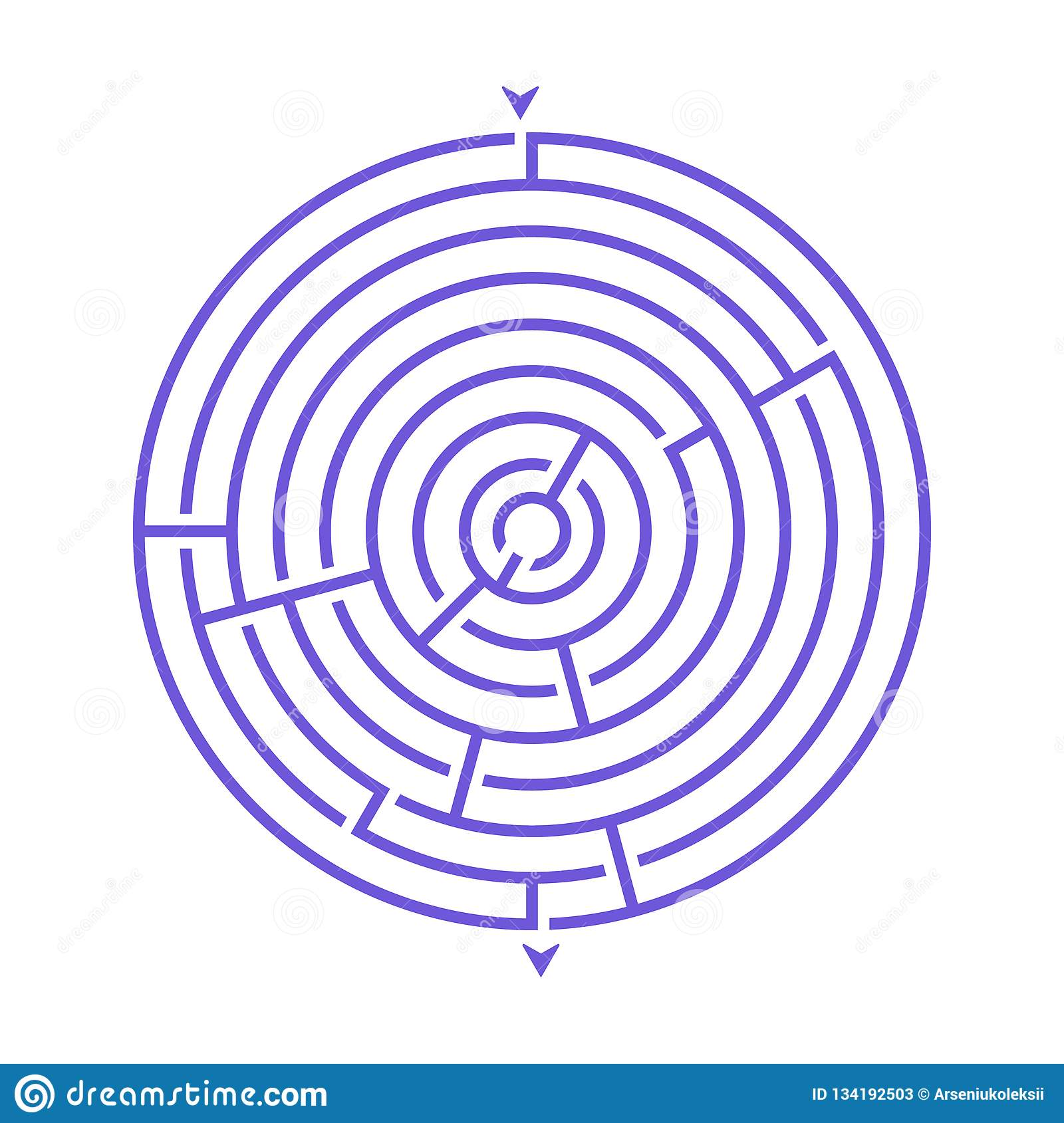 Simple Round Maze Labyrinth Game For Kids One Of The Puzzles From