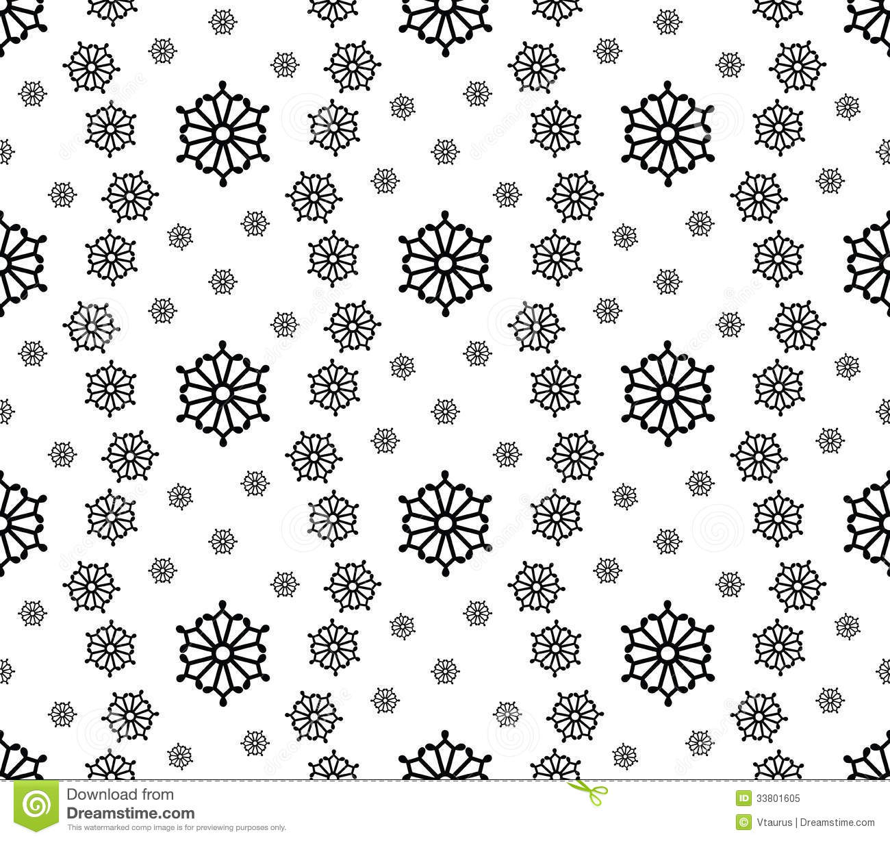 Simple round snowflakes stock vector. Image of seamless ...