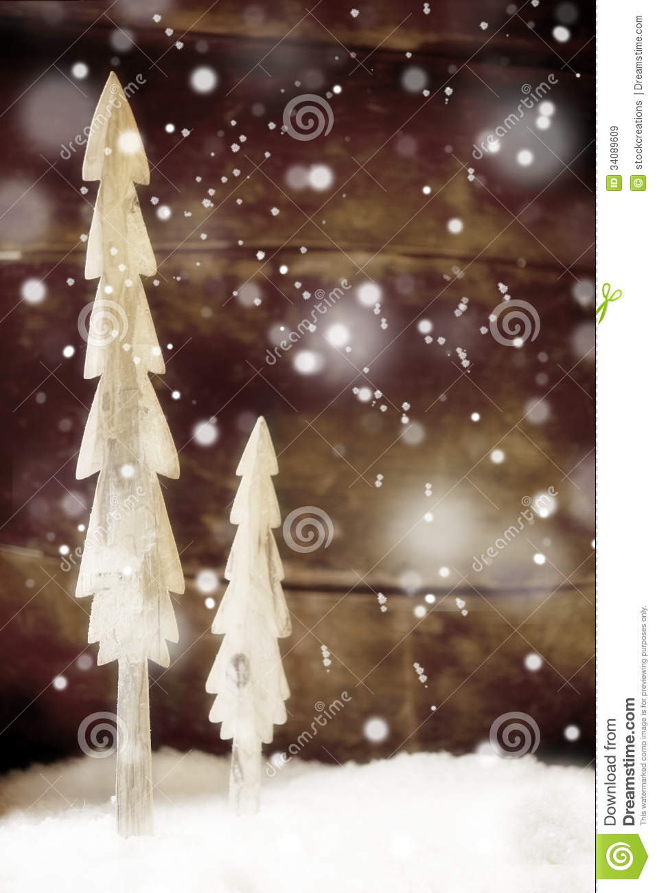 Wood christmas tree cutout - Background Christmas Festive Rustic Simple Snow Snowflakes Trees Wall Winter Wooden