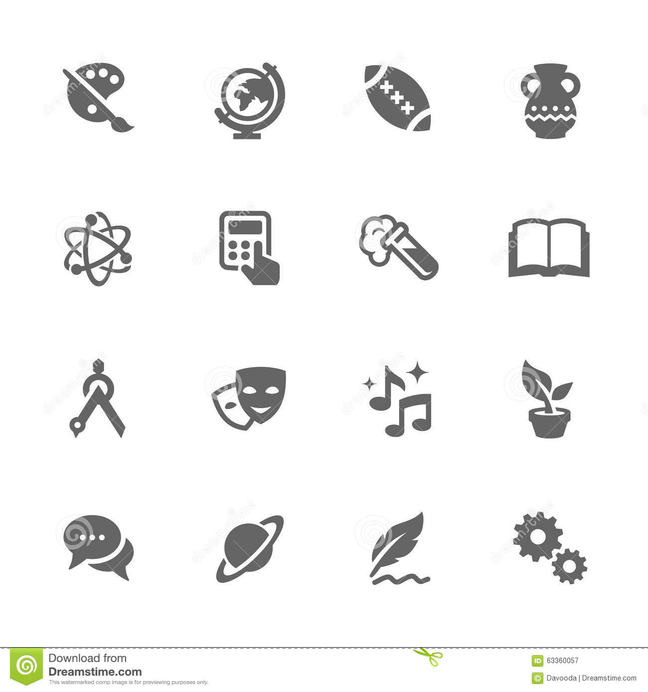 School subject icons stock illustrations 754 school subject icons simple school subject icons simple set of school subject related vector icons contains such buycottarizona Image collections