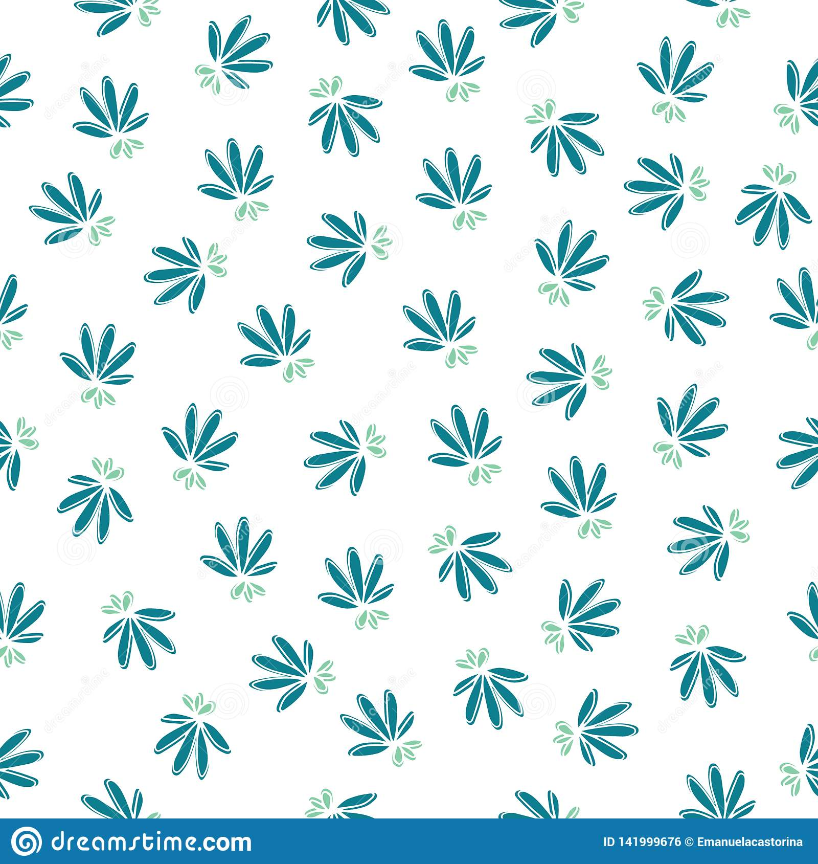 Simple seamless floral pattern