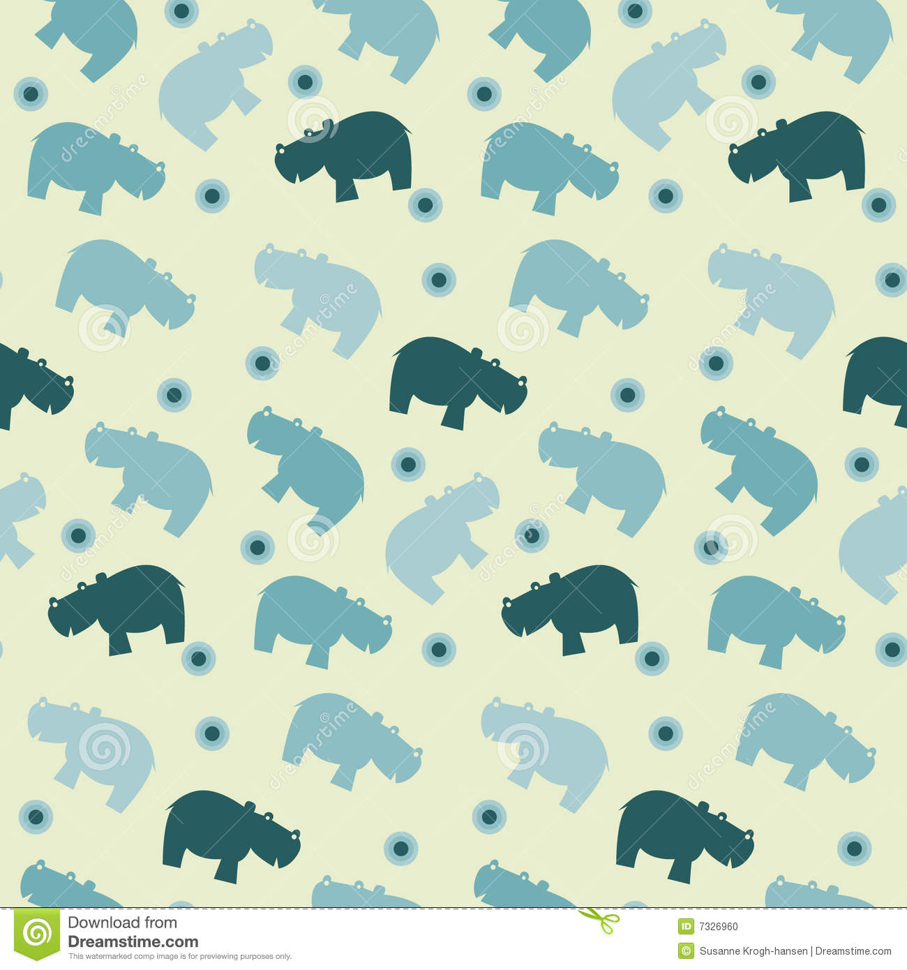 More similar stock images of ` Simple seamless hippo papttern `