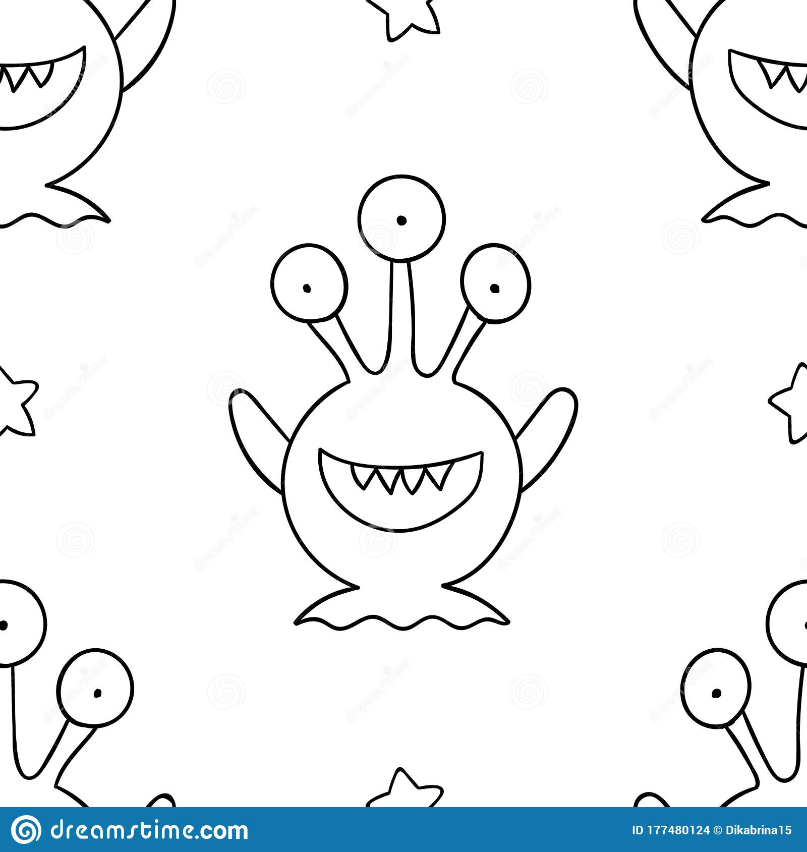 Monster Coloring Pages: 4 Cute and Silly Monsters for Kids (Free ... | 1689x1600