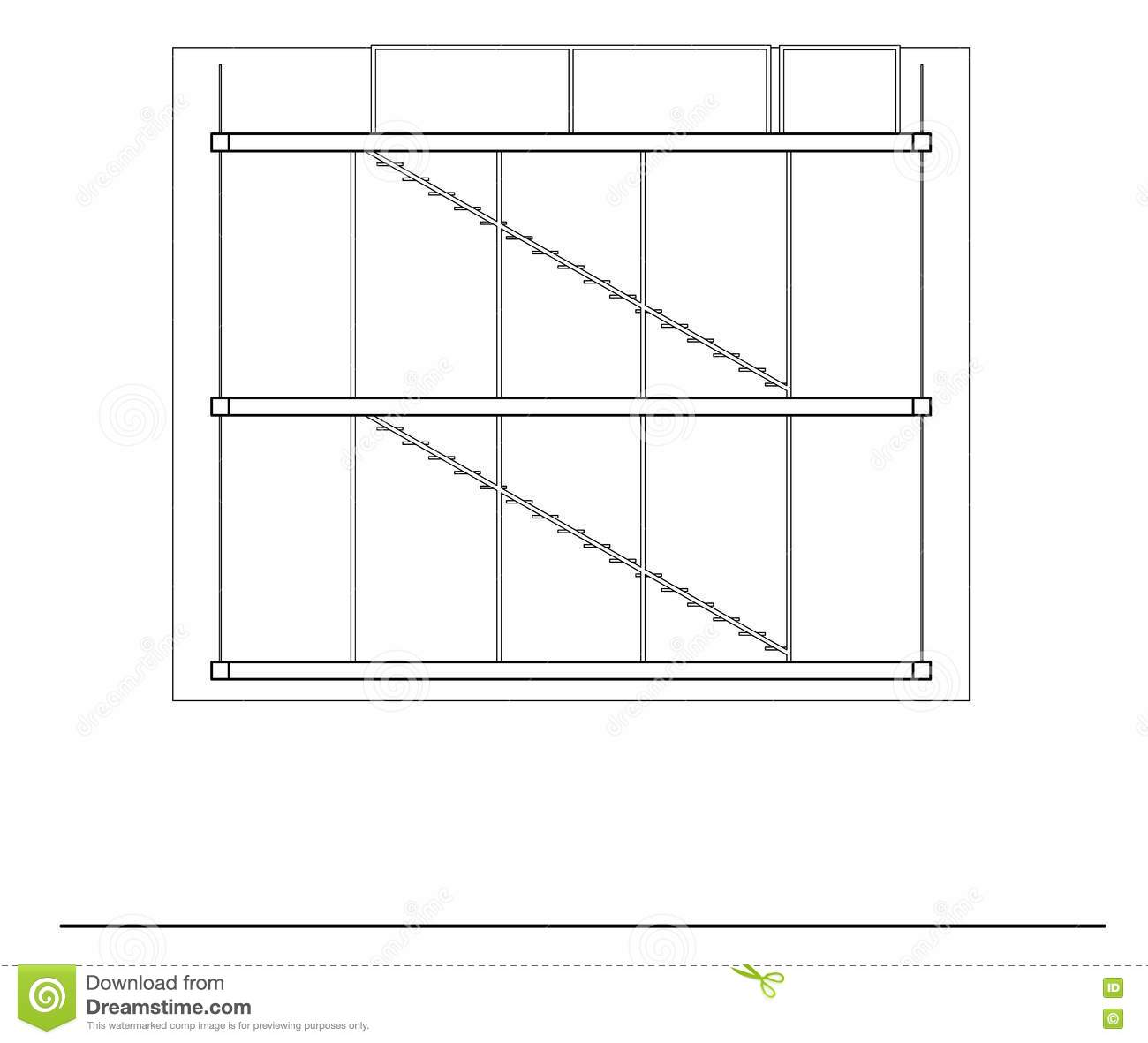 Simple Section Drawing stock vector. Image of scale, frame ...