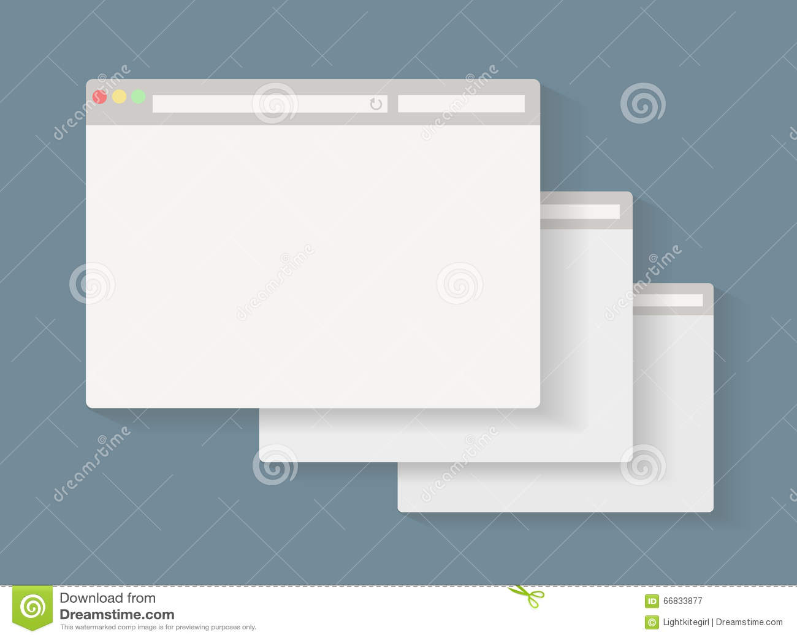 Simple set of browser window.