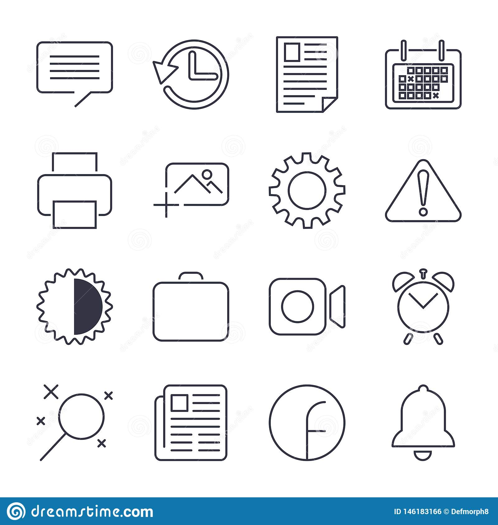 Simple Set of Office Related Vector Line Icons. nContains such Icons as Business Meeting, Workplace, Office Building