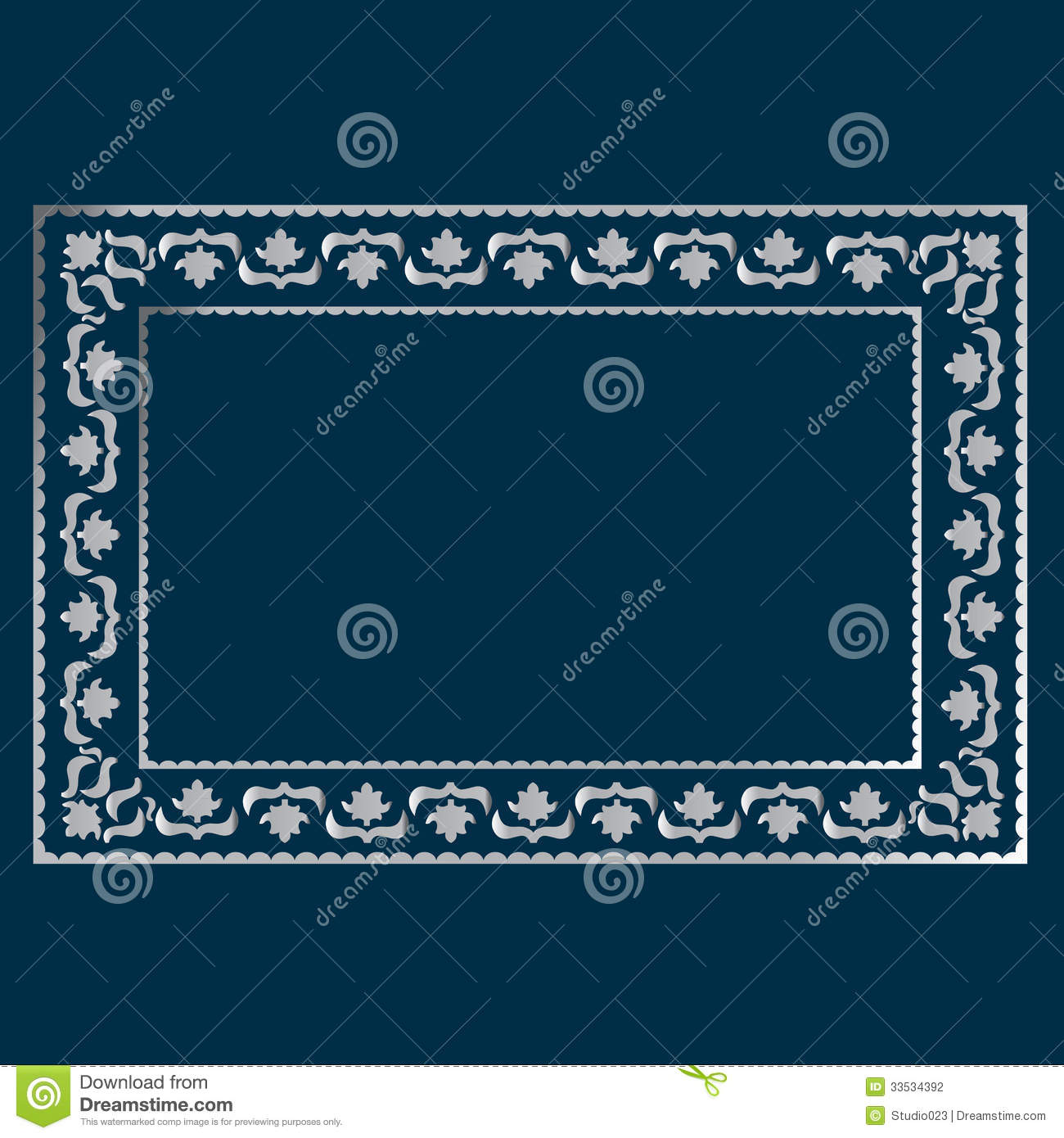 Simple Silver Frame Stock Vector Illustration Of Pattern