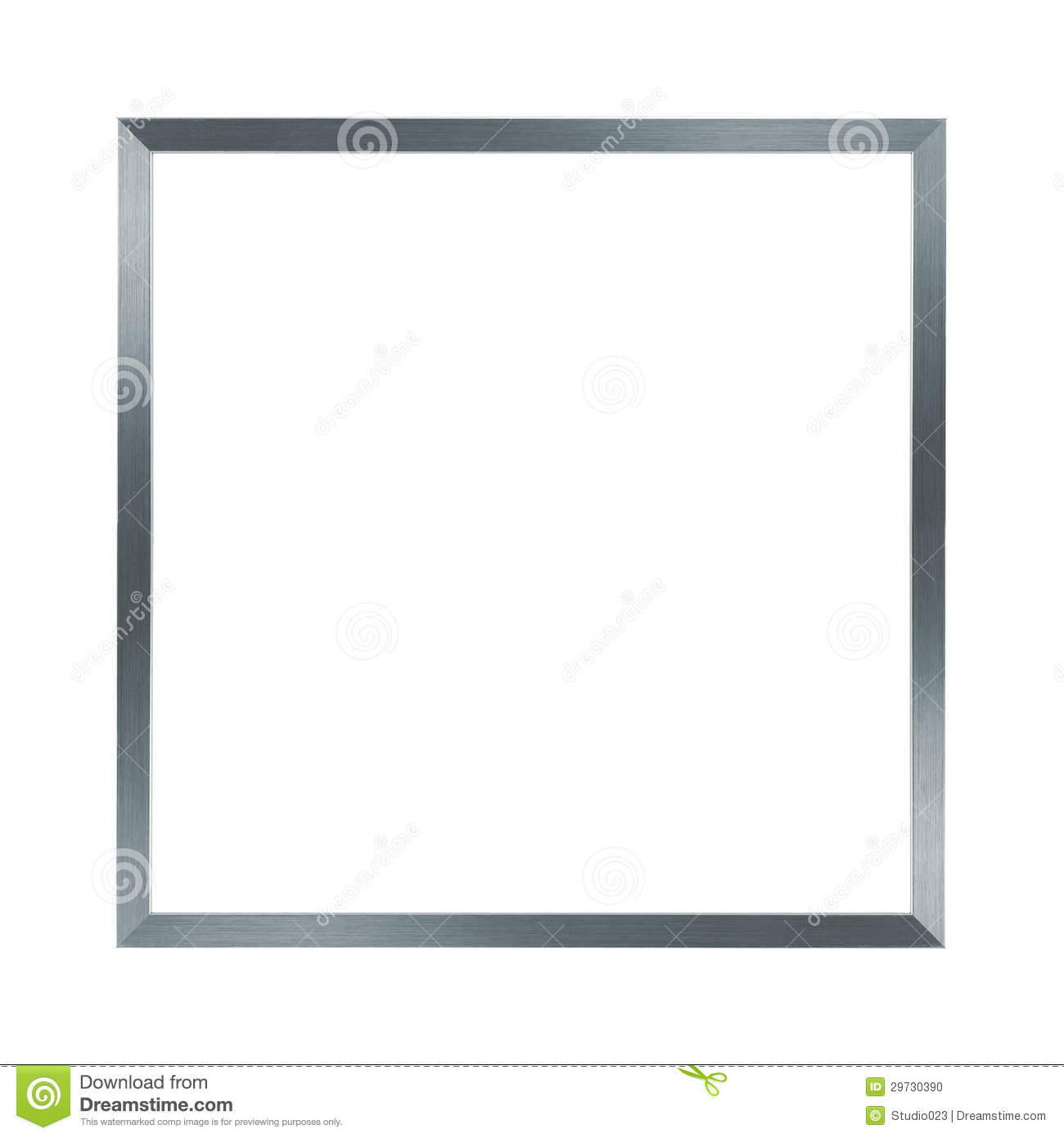 thin silver metal frame stock photo