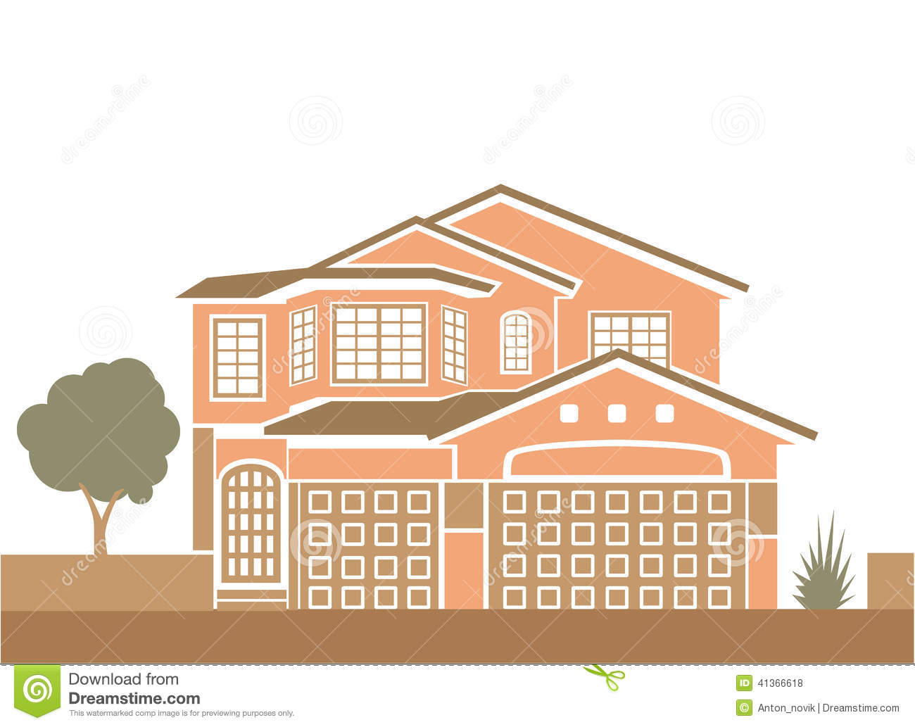 Simple single family home stock vector image 41366618 for Simple single