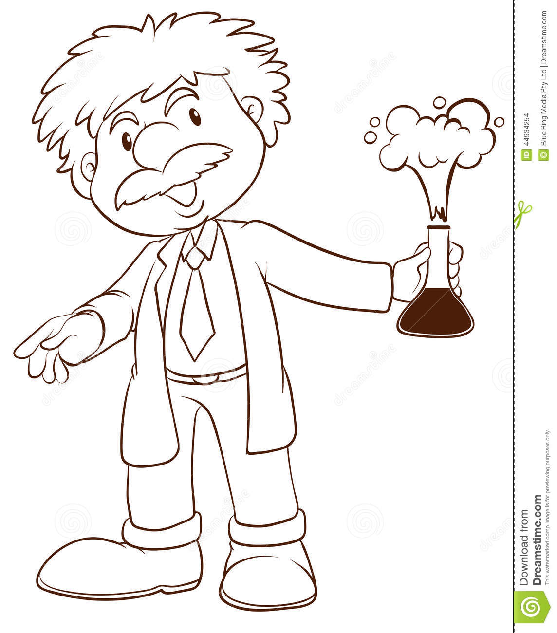 A Simple Sketch Of A Scientist Stock Vector - Image: 44934254
