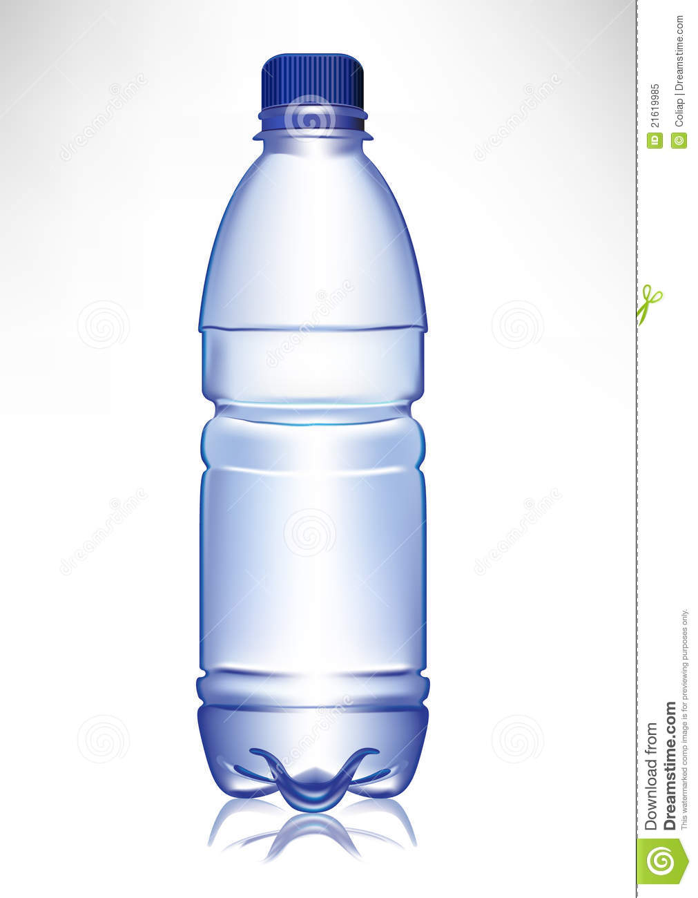 simple small plastic water bottle stock vector