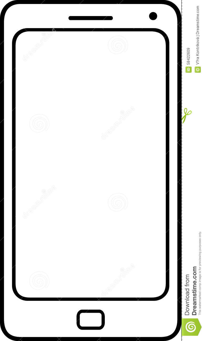 Simple Smartphone, Vector, For Infographic, Fully Scalable ...