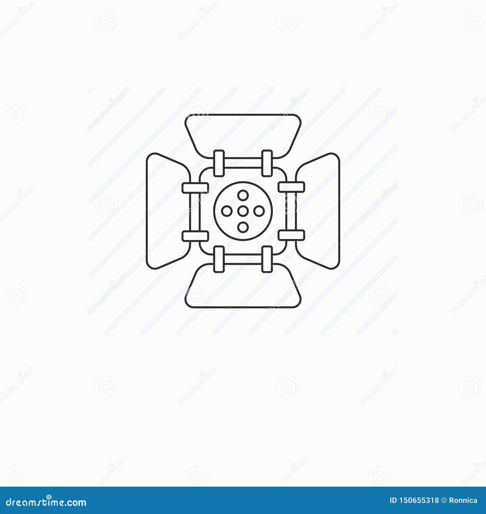 Simple spotlight line icon