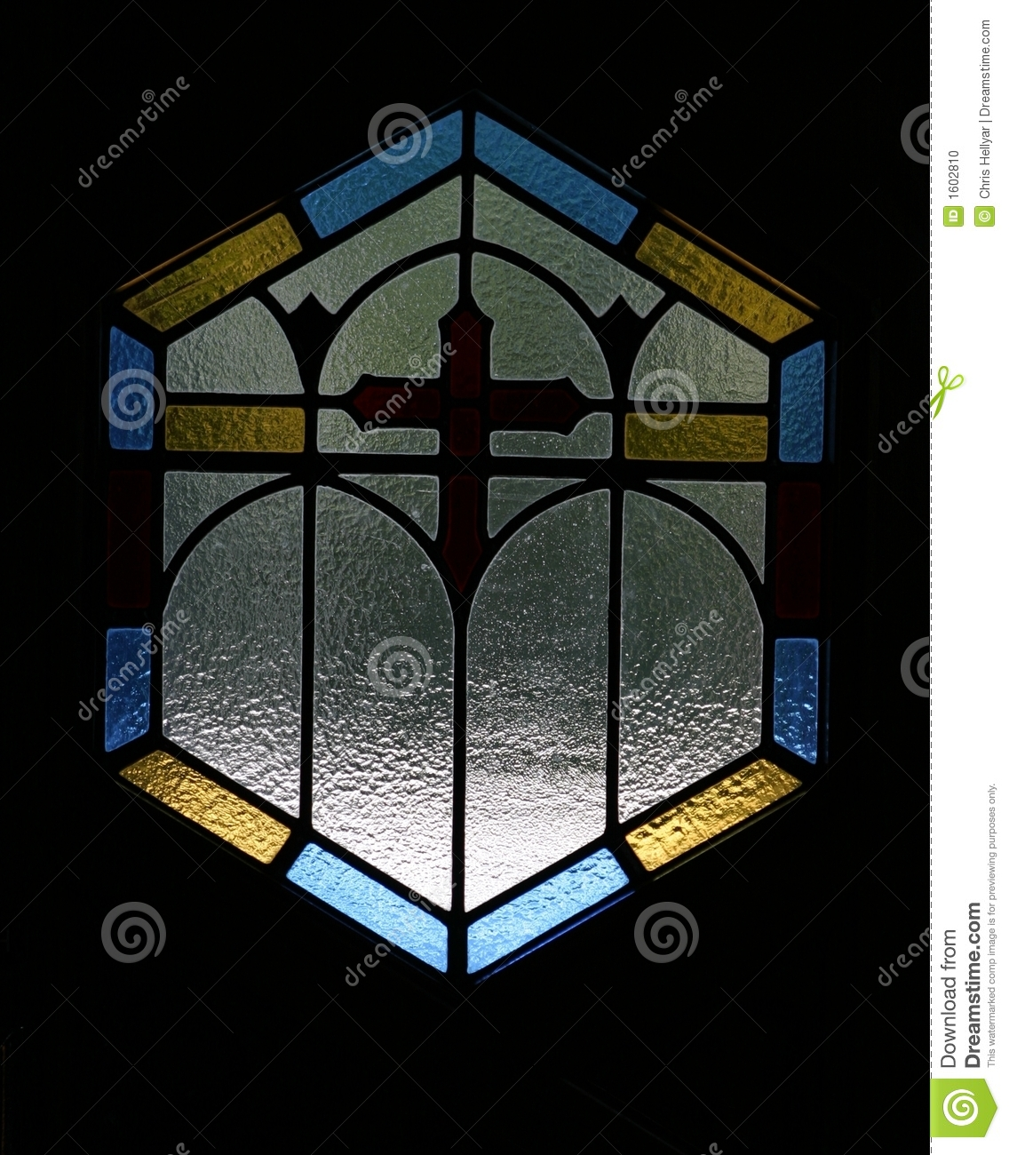 Simple Stained Glass Window Stock Photo - Image: 1602810