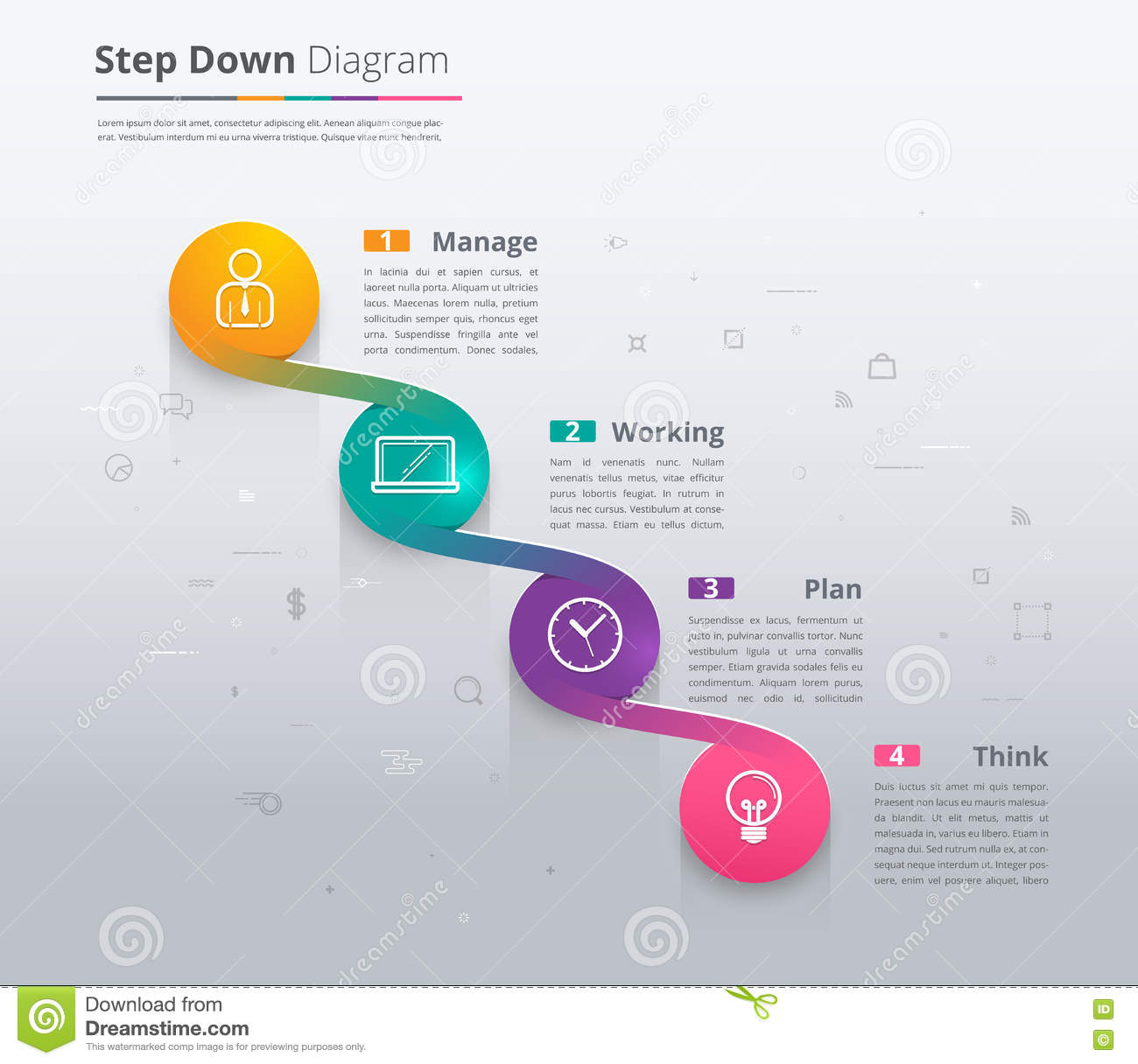 Simple Stair Infographic Diagram Chart And Icon Sample Step Do – Sample Diagram