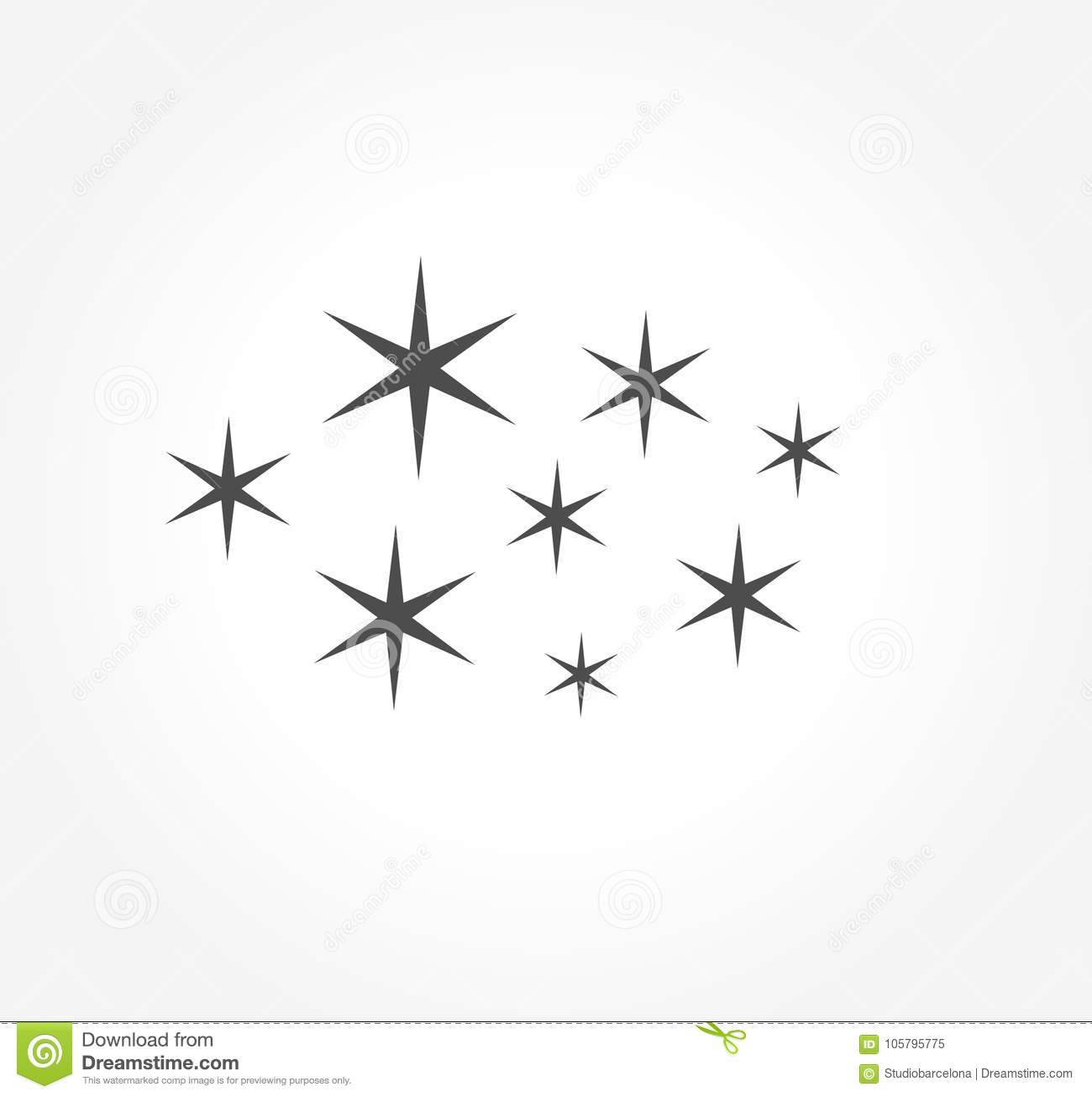 Simple Stars Symbol Or Icon Stock Vector Illustration Of Holiday