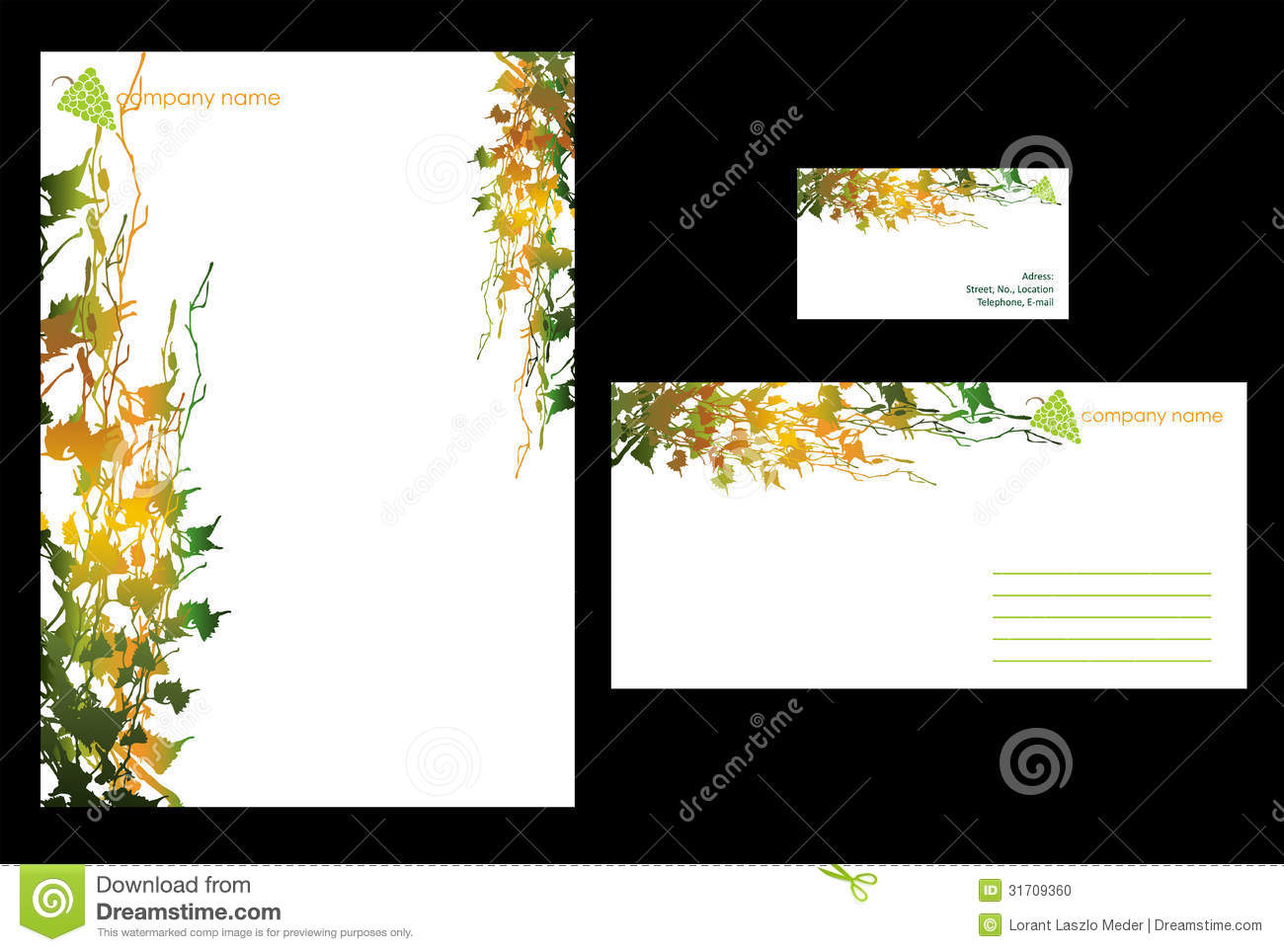simple stationary design stock vector illustration of background
