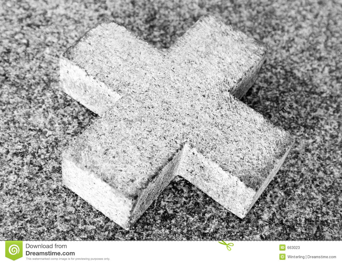 Simple Stone Cross (Black and White)