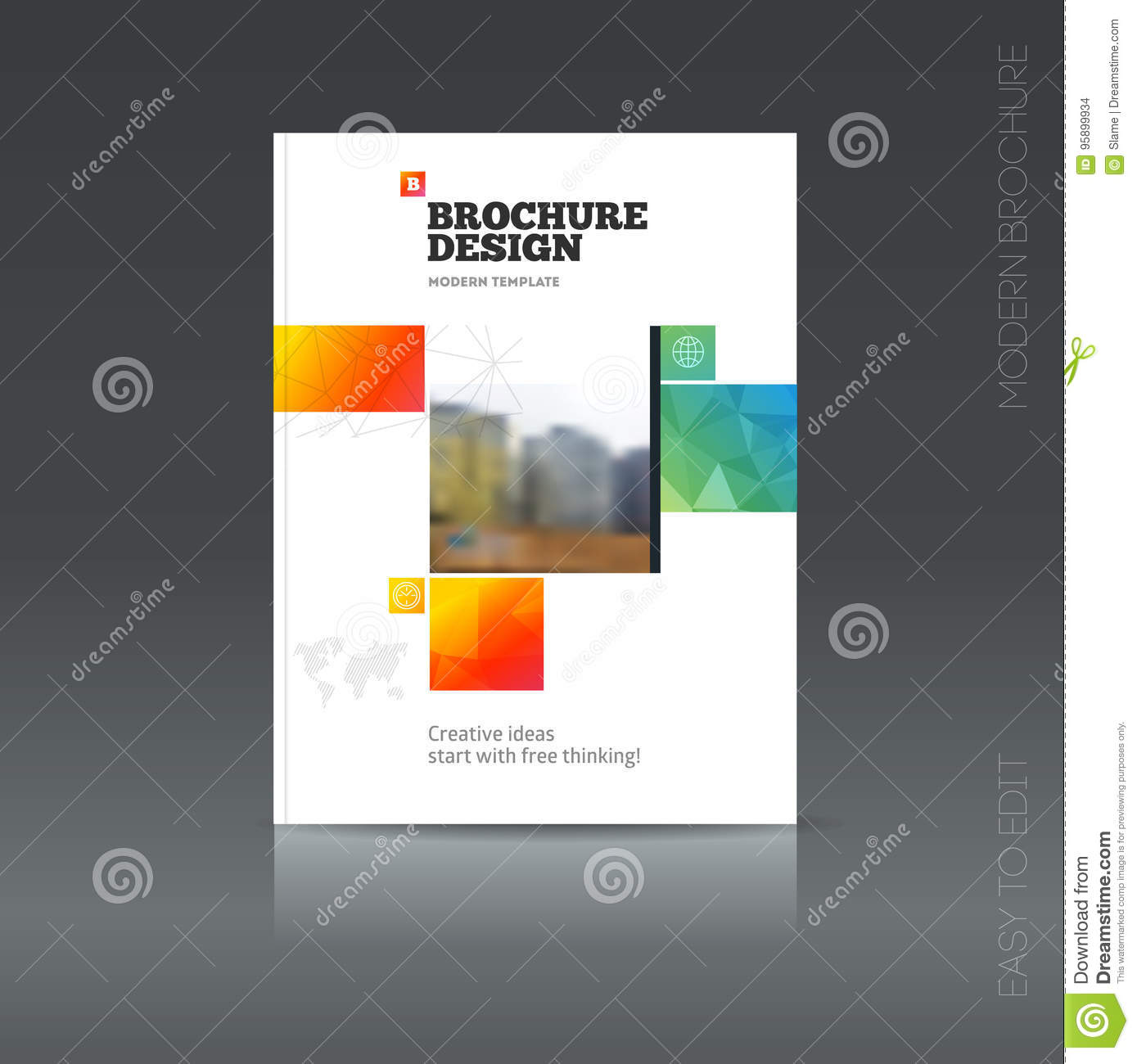 How To Make A Book Cover Using Powerpoint ~ Simple style brochure flyer promotion stock vector