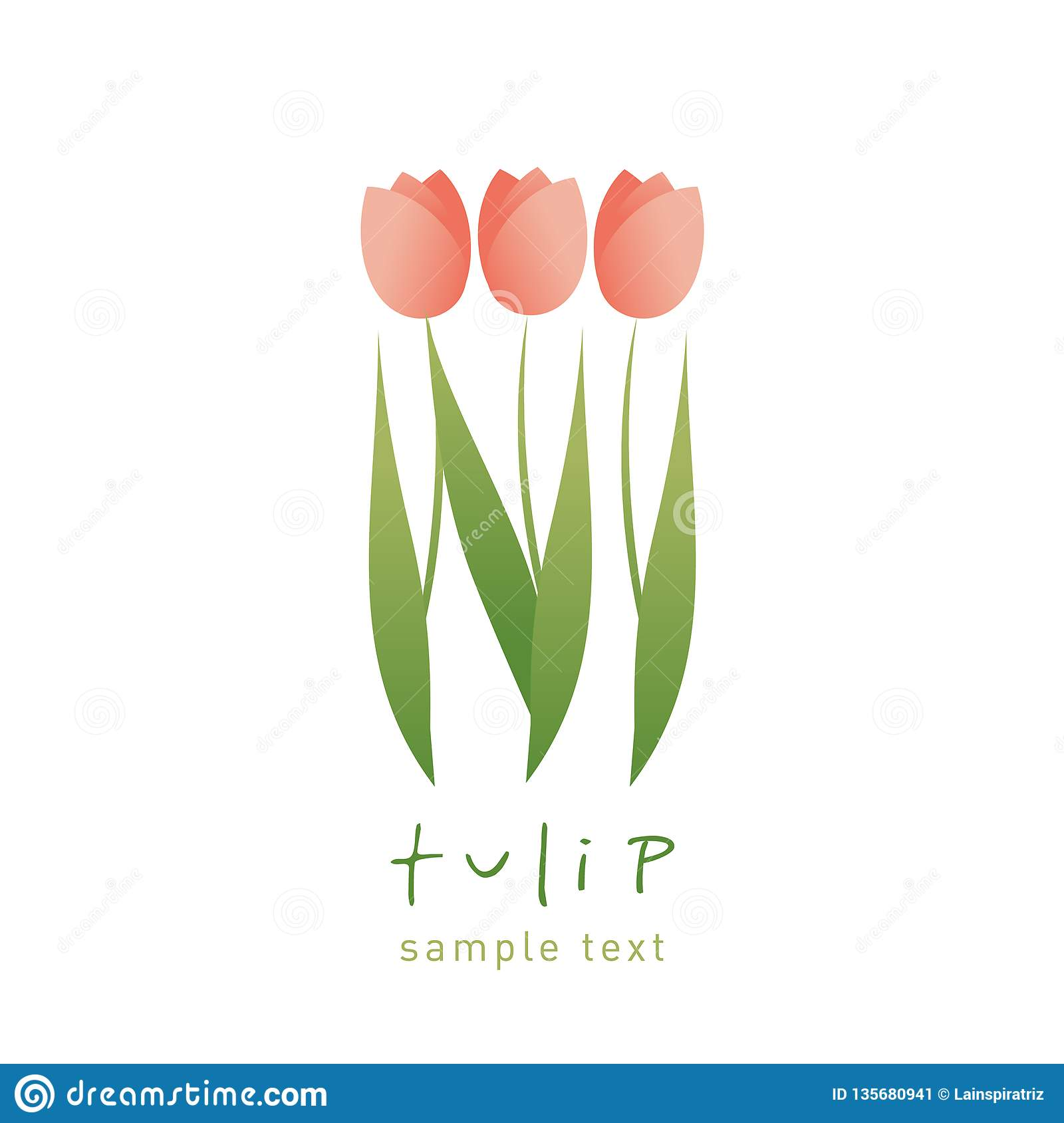 Simple And Stylized Tulip Flowers Isolated On White Background Stock Illustration Illustration Of Drawing Decoration 135680941