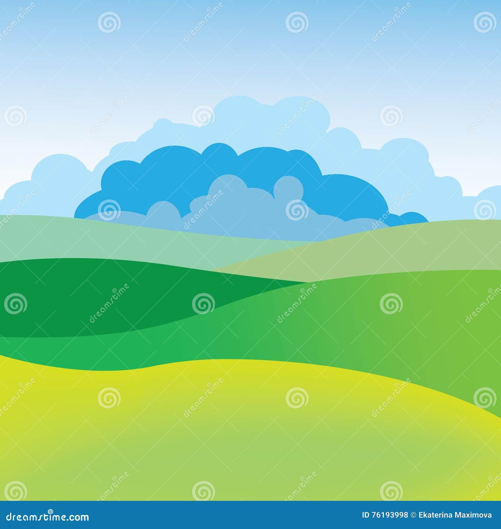 Simple summer landscape stock vector illustration of bright 76193998 simple summer landscape kristyandbryce Images