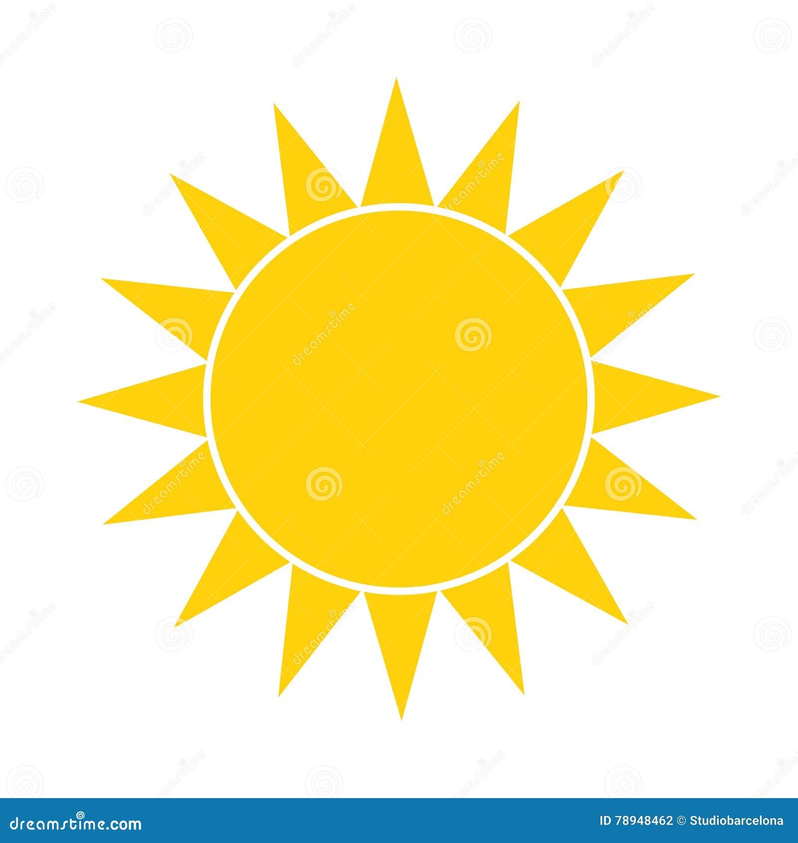 Simple sun icon cartoon vector 82403505 for Illustration minimaliste