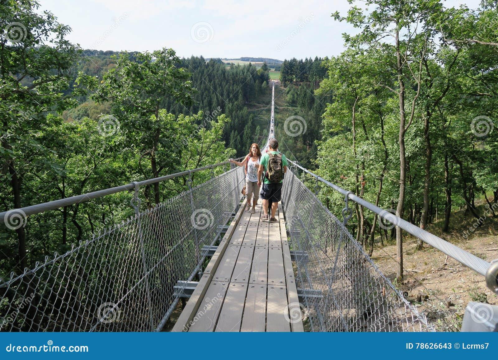 Simple suspension bridge geierlay in moersdorf at for Simple suspension hanging