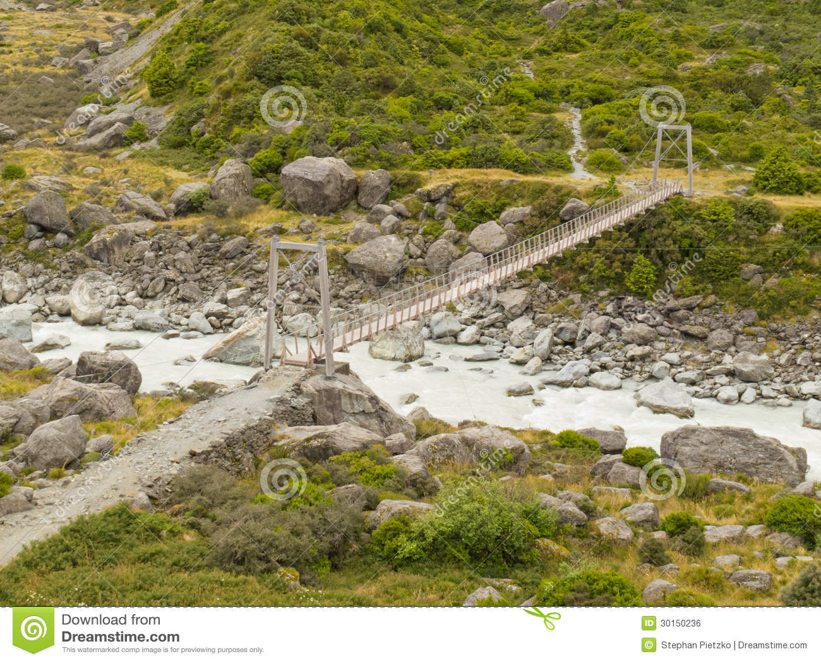 Swing Bridge South Island New Zealand