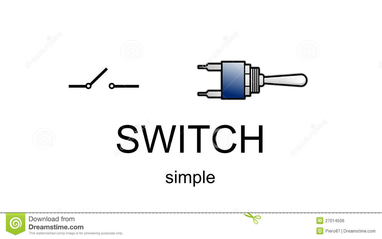 Simple Switch Icon And Symbol Stock Illustration - Illustration of ...