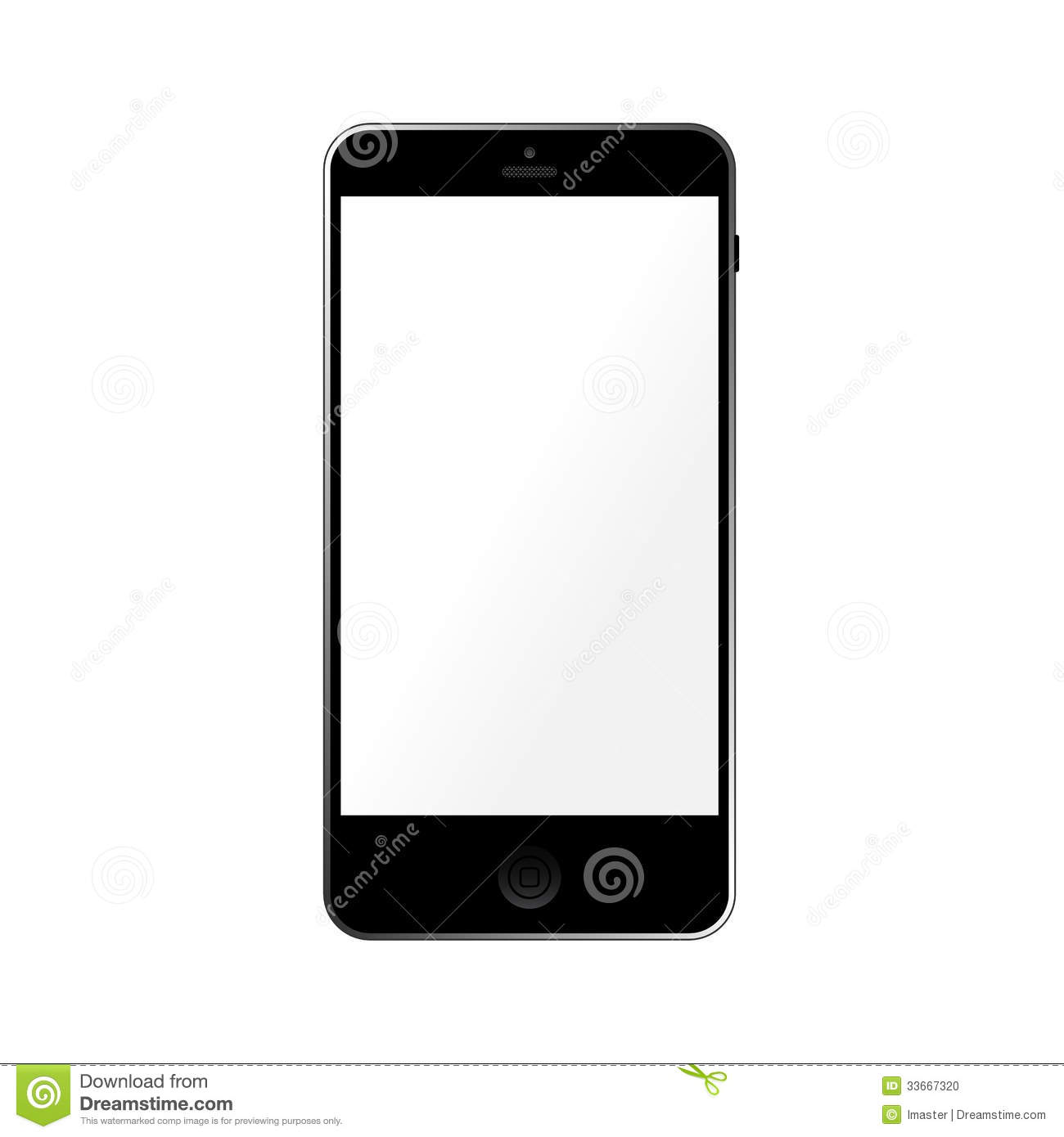 Simple Template Smartphone With Empty Touchscreen Stock ...