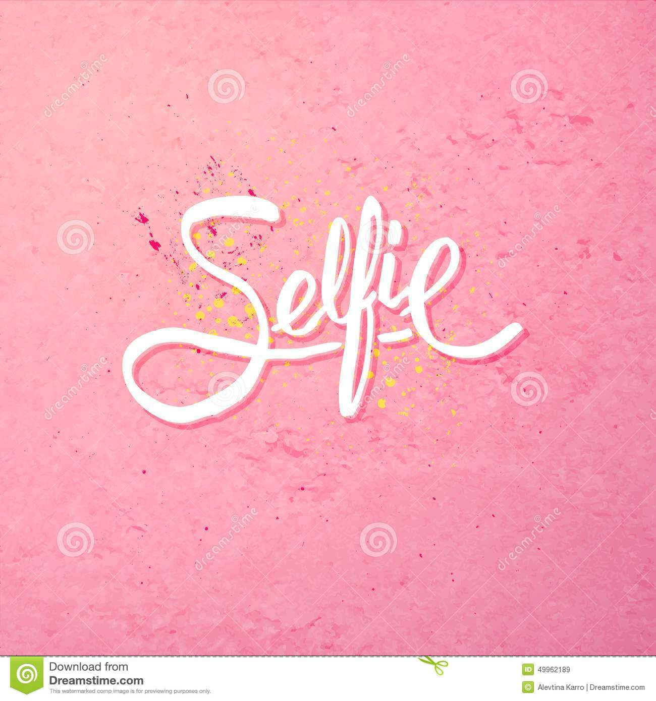Simple Text Design for Selfie Concept on Pink