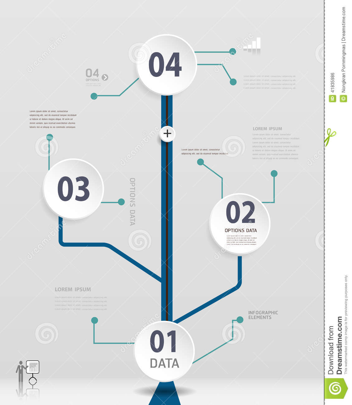 simple timeline infographics design stock vector - illustration of