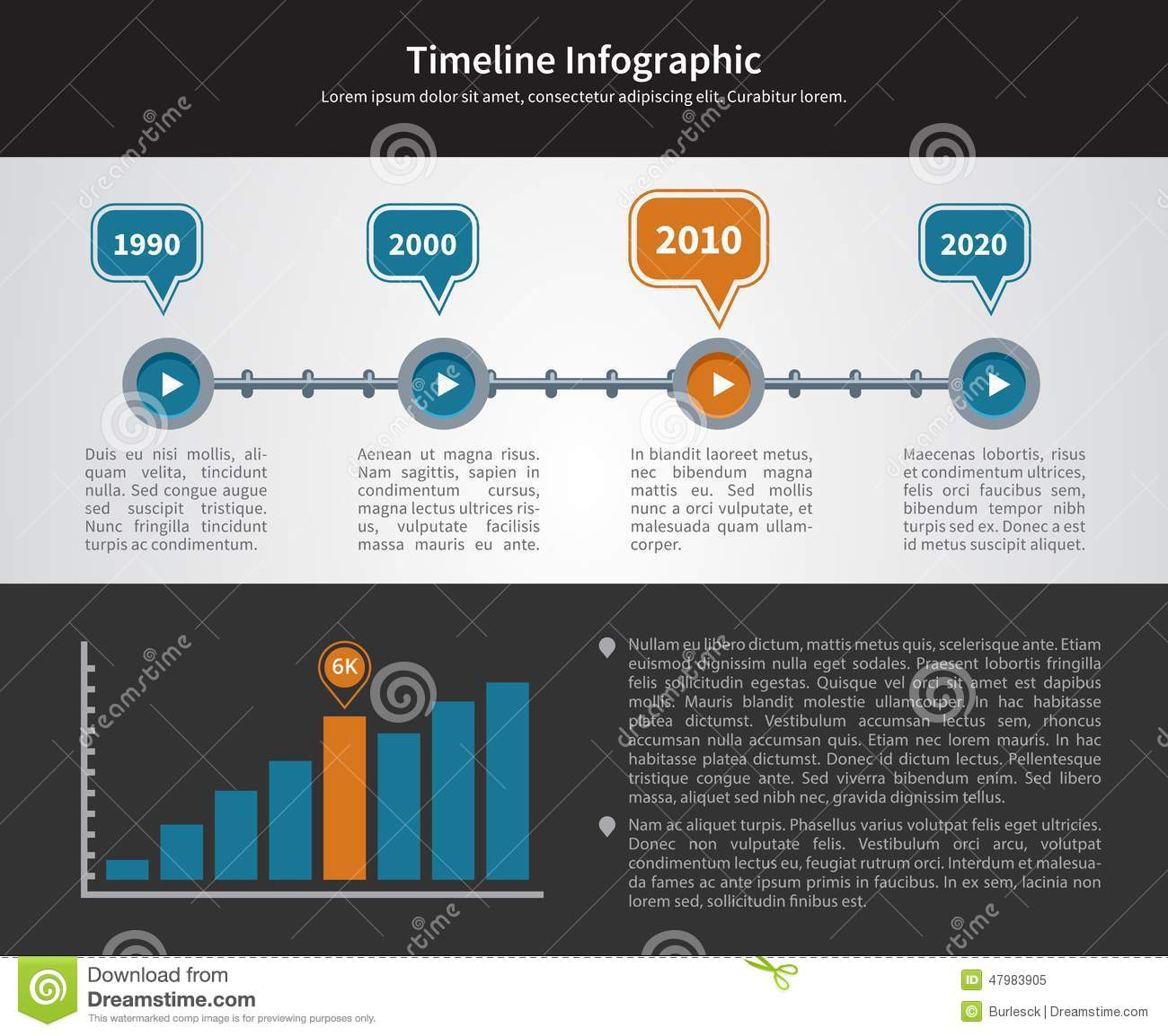 Simple Timeline Inforgraphic Design Stock Vector