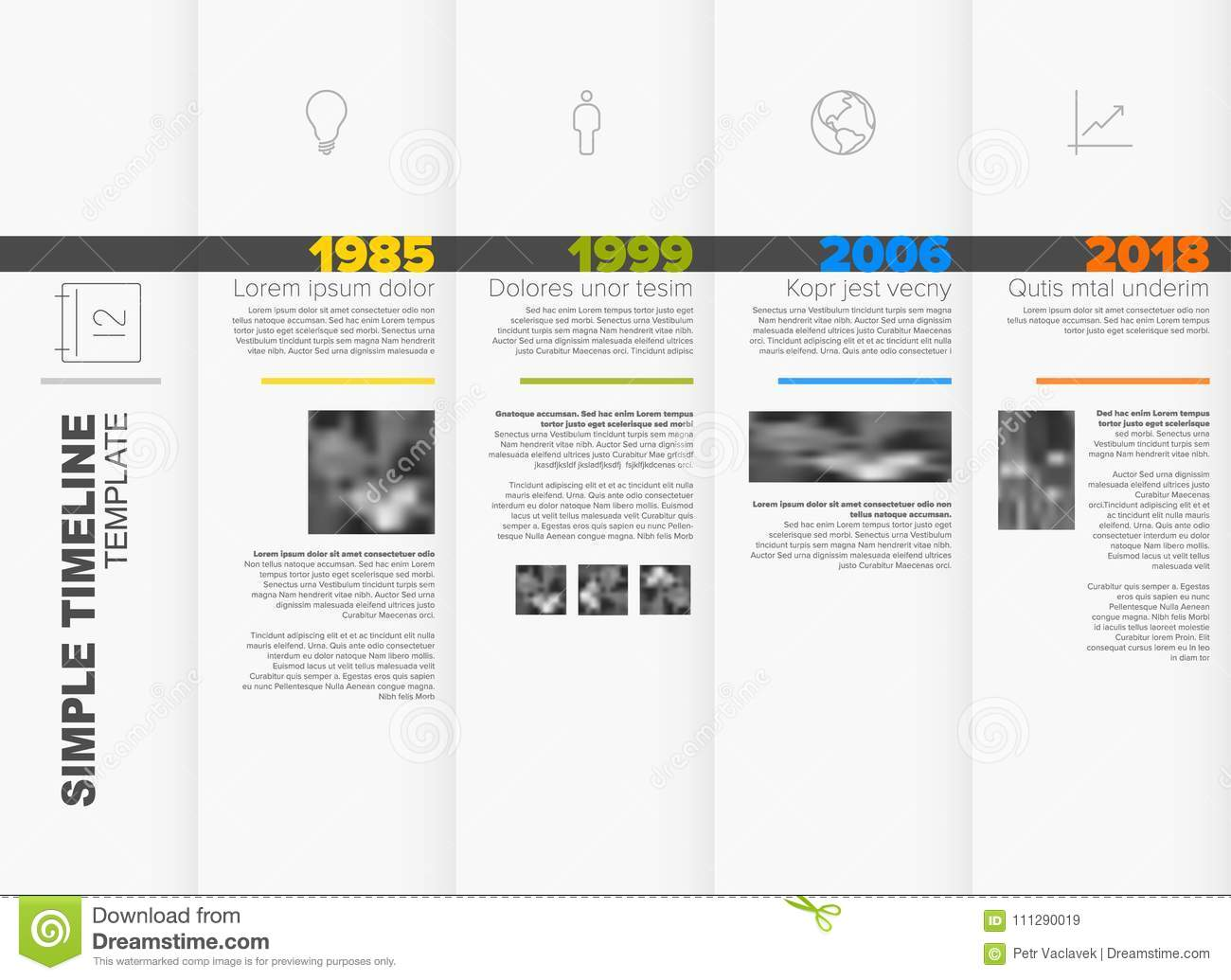 download simple timeline template stock vector illustration of layout 111290019