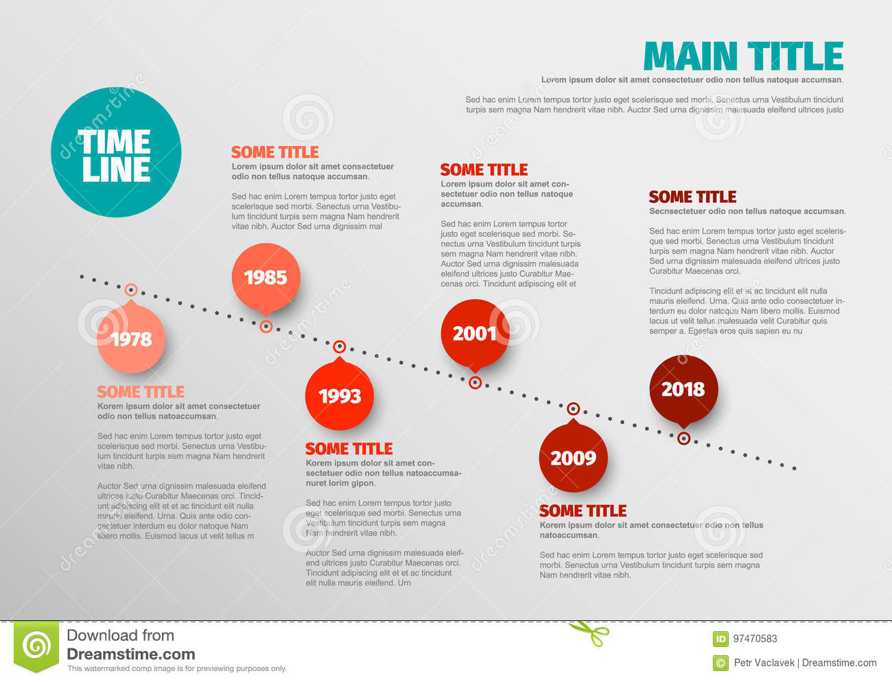 Simple Timeline Template | Simple Timeline Template Stock Vector Illustration Of Computer