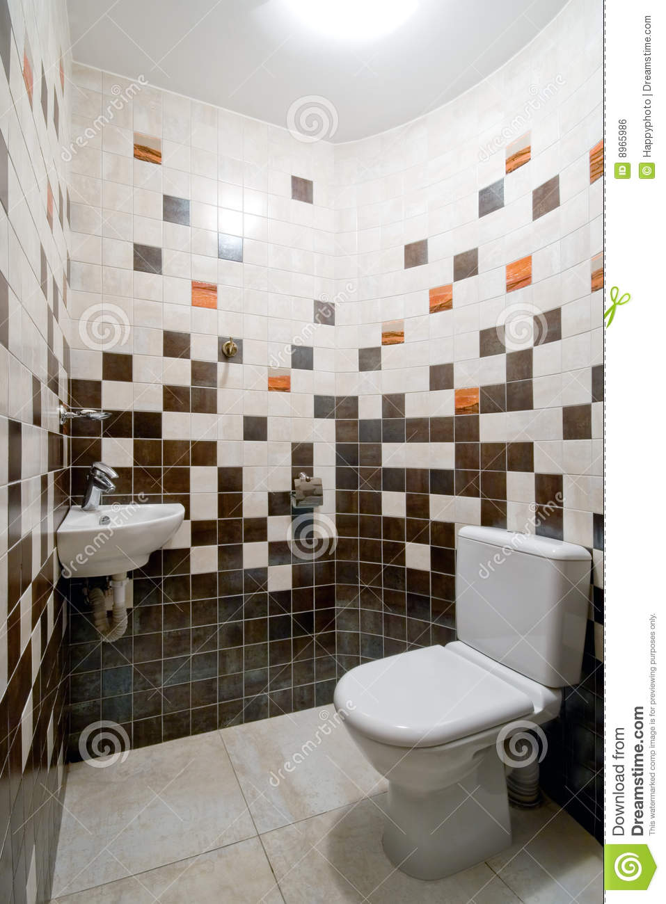 Toilet Room Designs: Simple Toilet Room Stock Photo. Image Of Decor, Tiled
