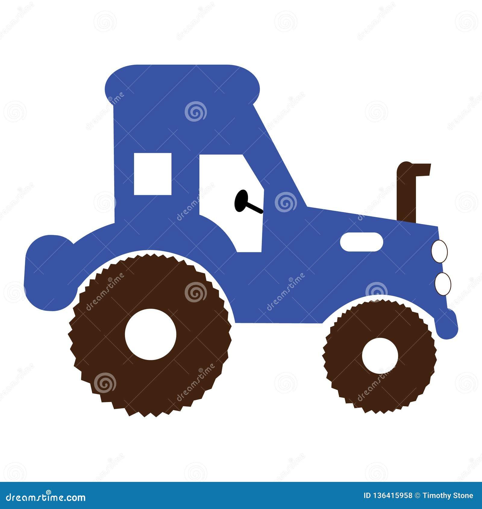 Simple tractor illustration