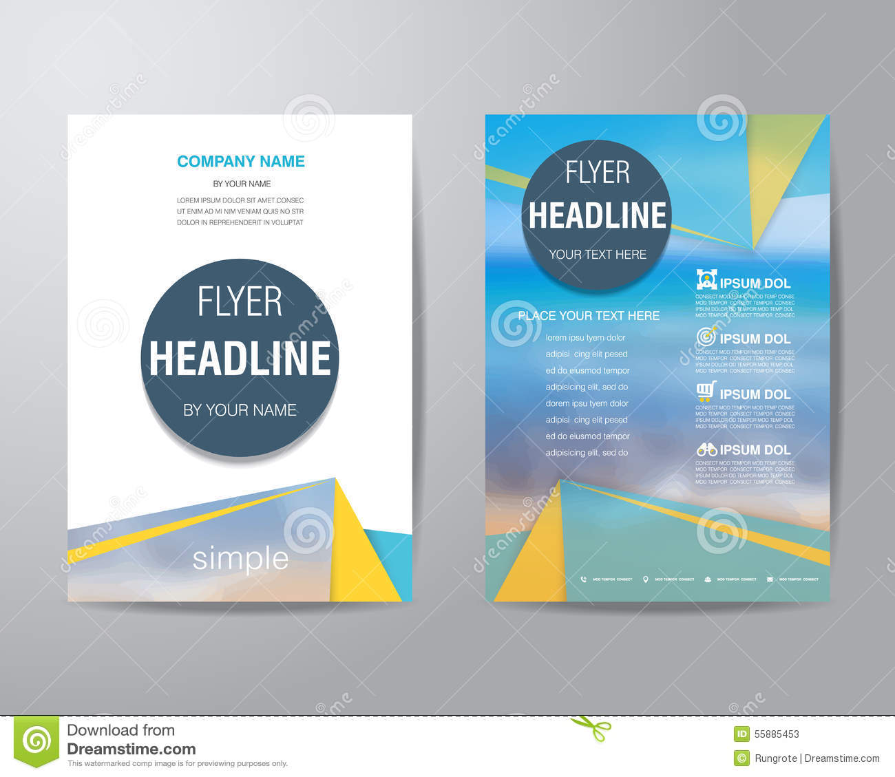 Simple Flyer Layout Insssrenterprisesco - Simple brochure templates