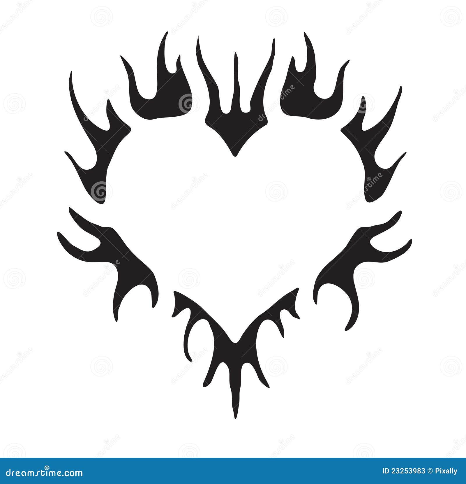 simple tribal vector heart stock photos