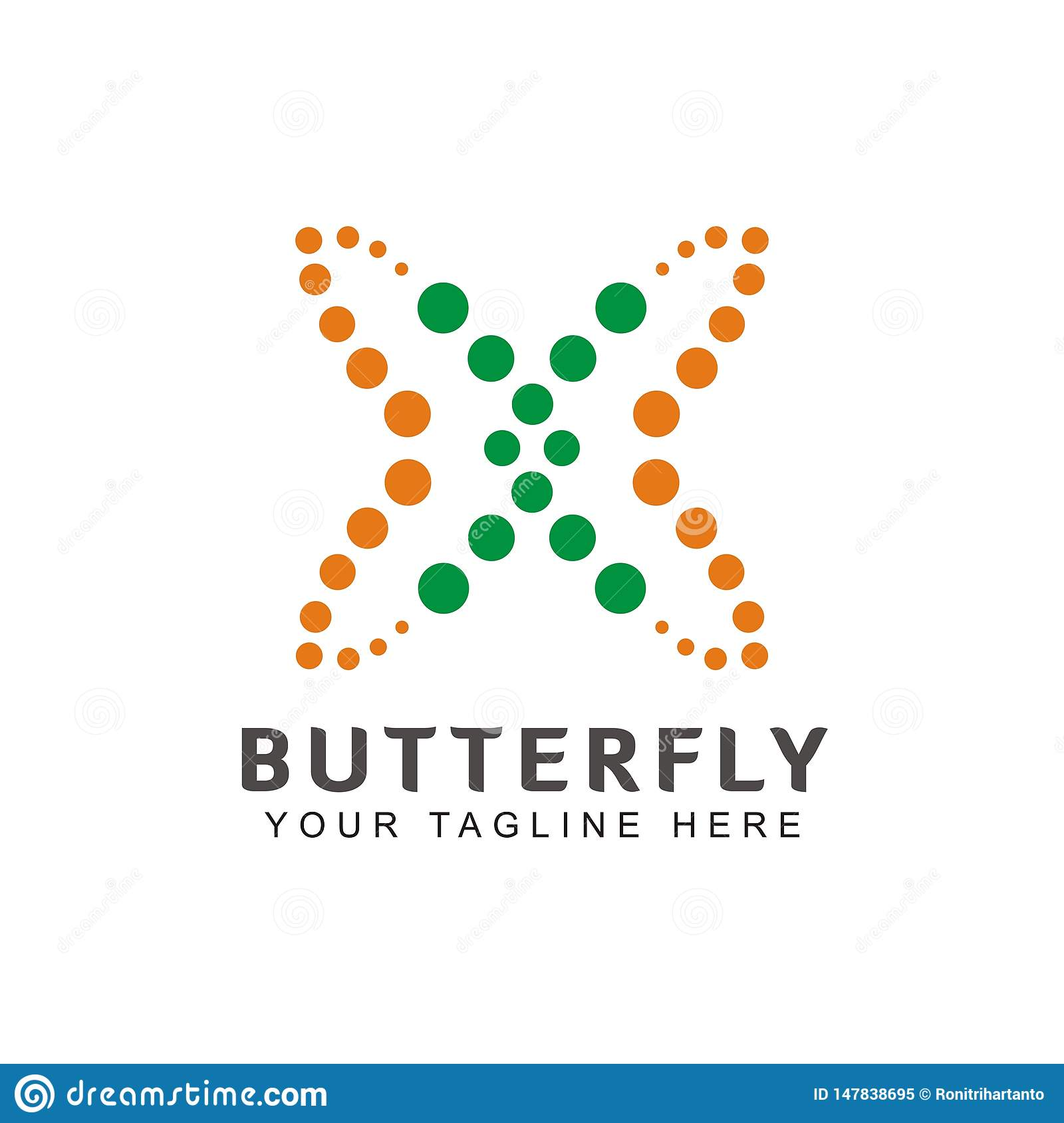 Simple and unique butterfly shaped logo Inspiration