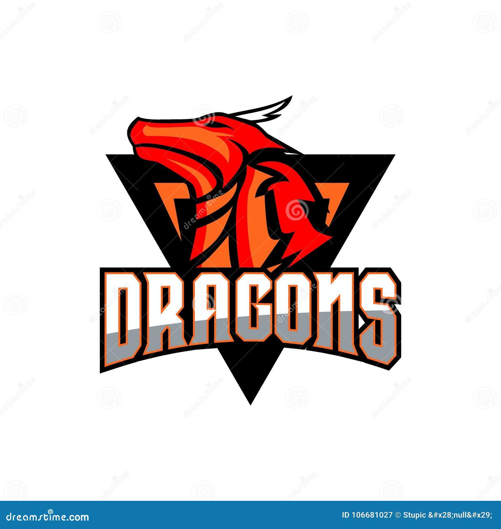 dragon logo vector art logo template and illustration stock