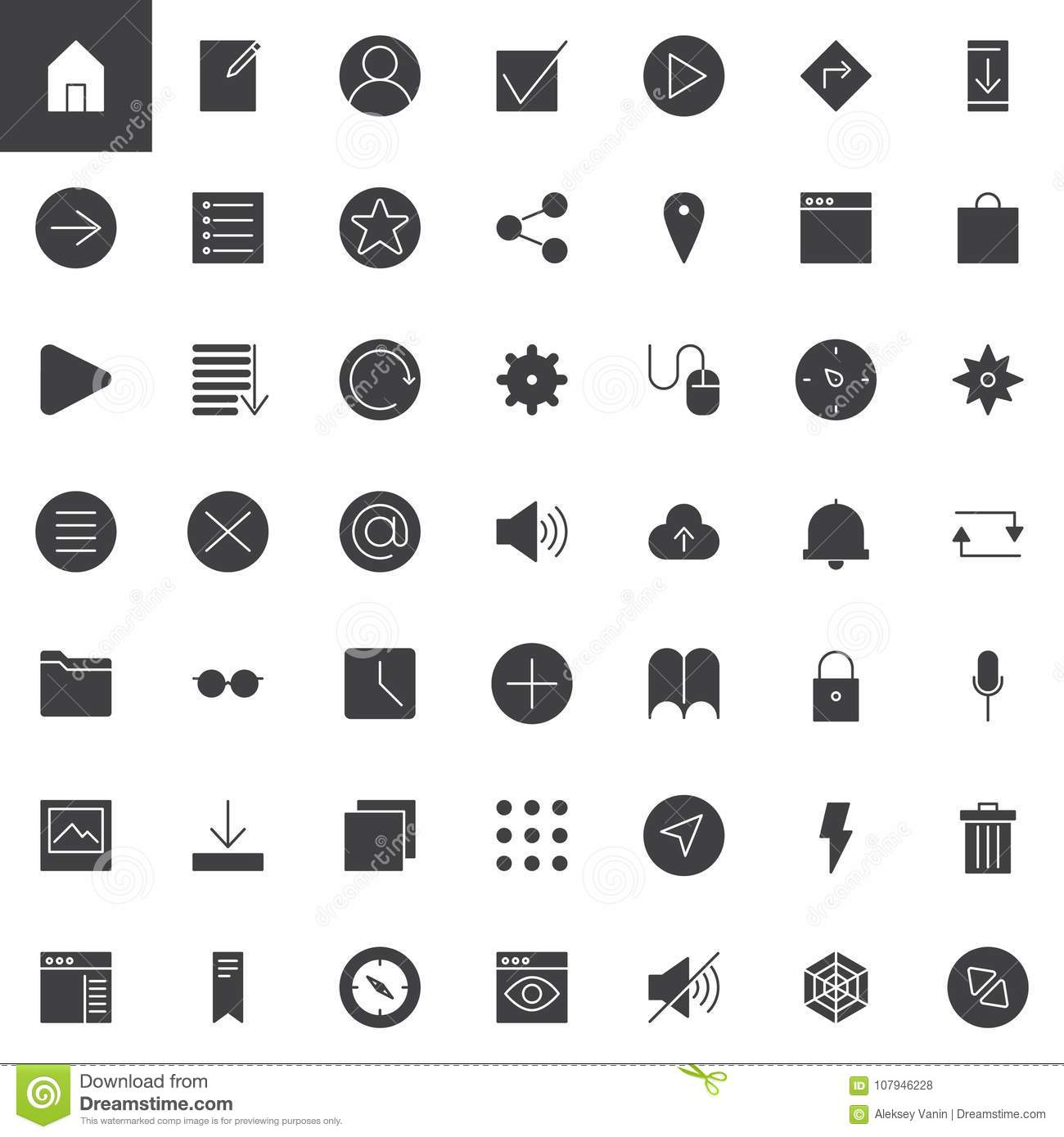Simple universal web vector icons set