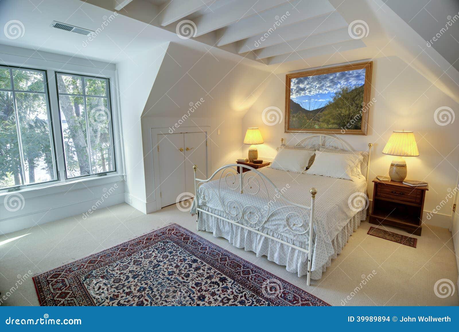 Simple upstairs bedroom